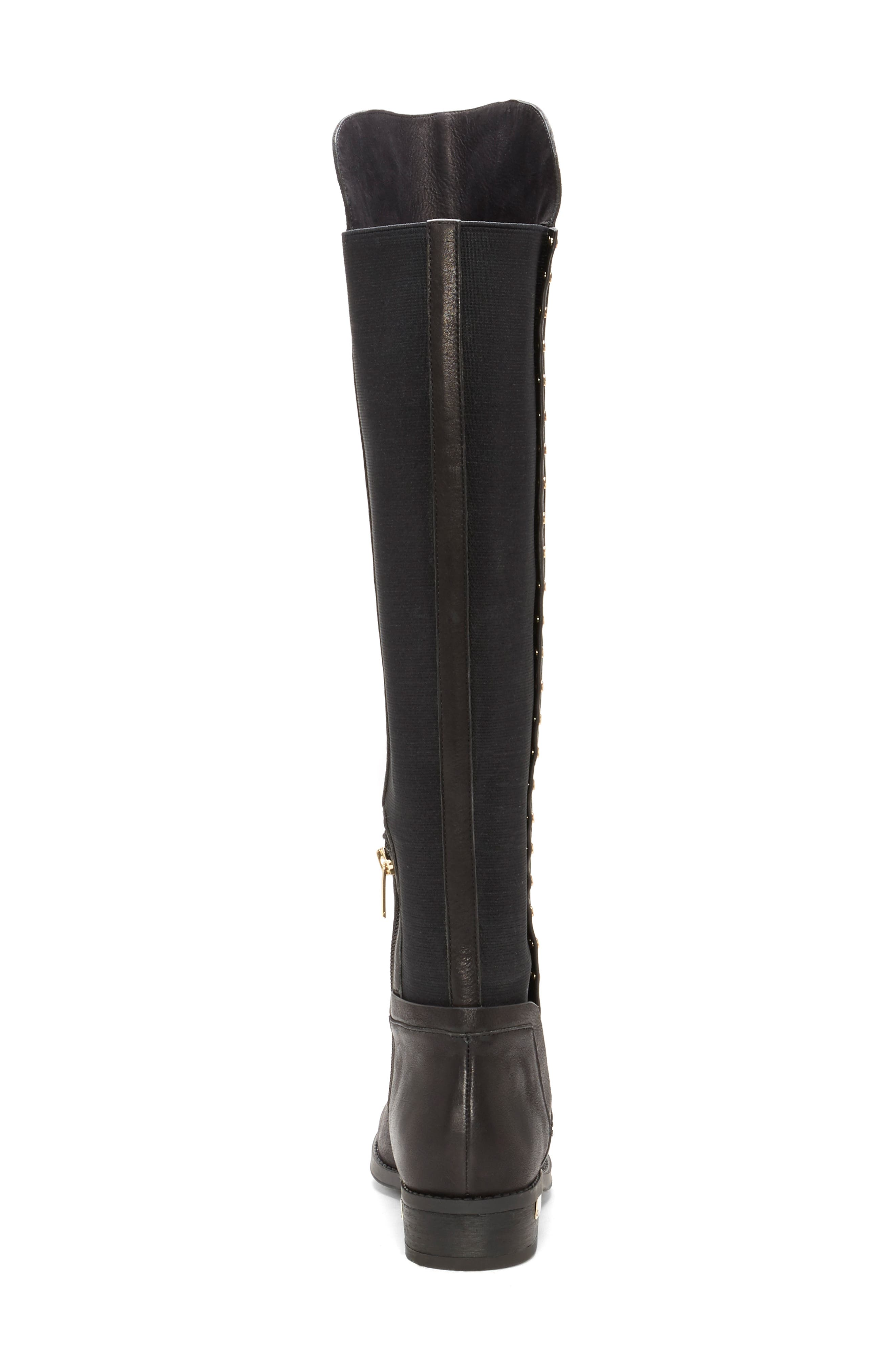 Pardonal Over-the-Knee Boot,                             Alternate thumbnail 7, color,                             BLACK LEATHER