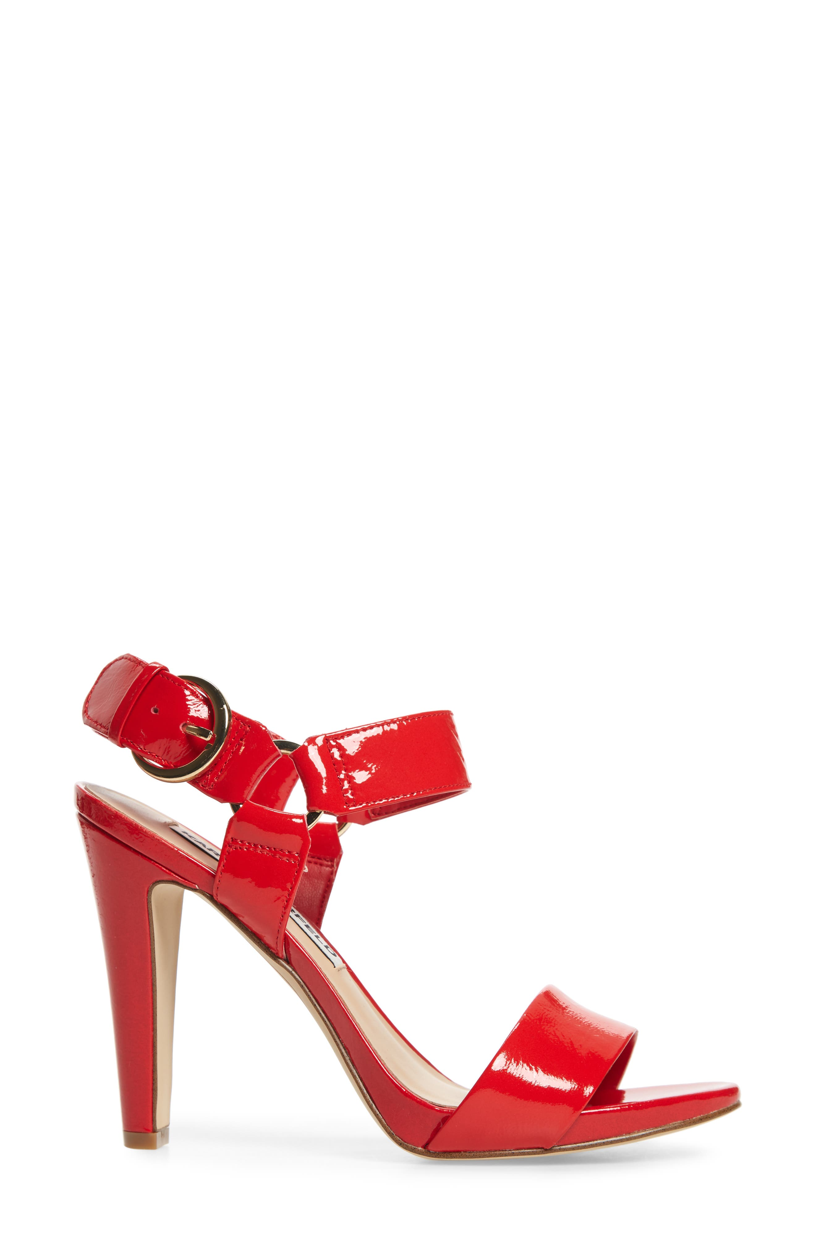 Cieone Sandal,                             Alternate thumbnail 3, color,                             RED PATENT