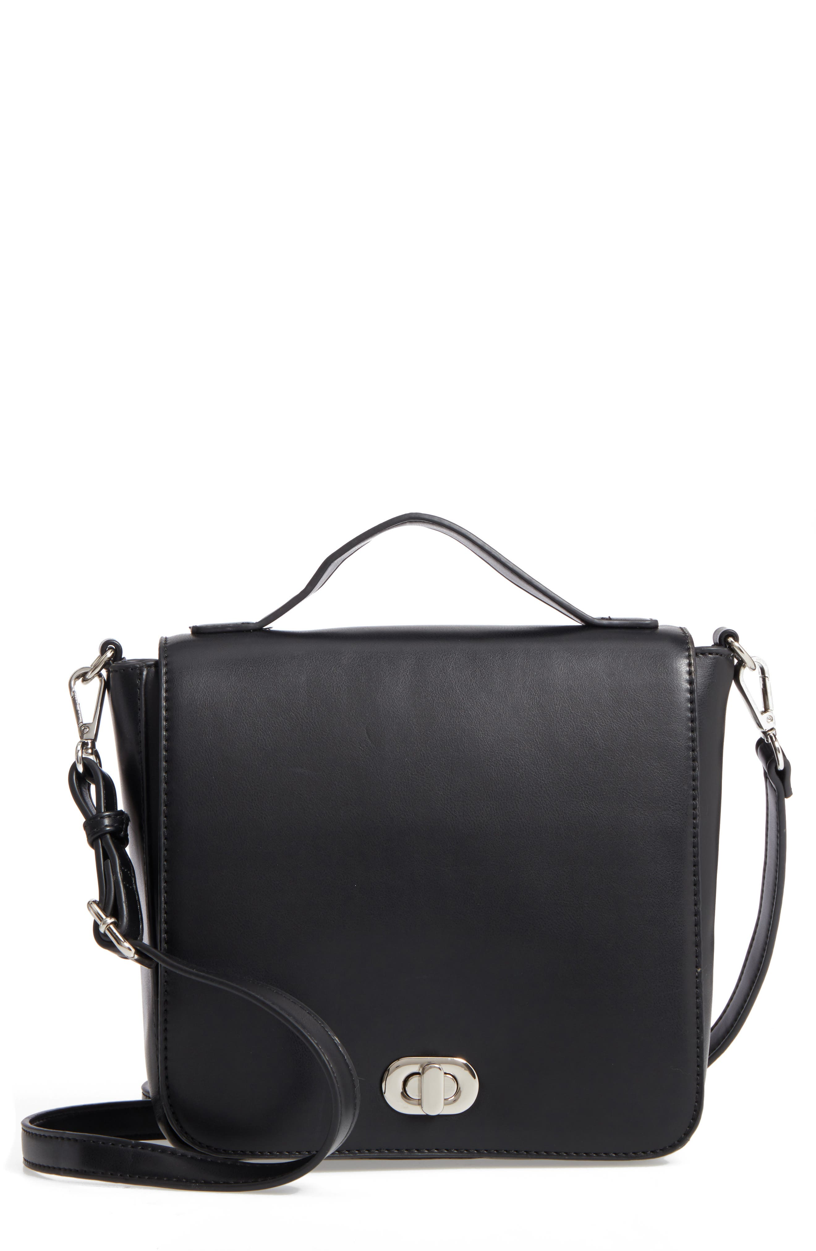 Convertible Faux Leather Backpack,                         Main,                         color, 001