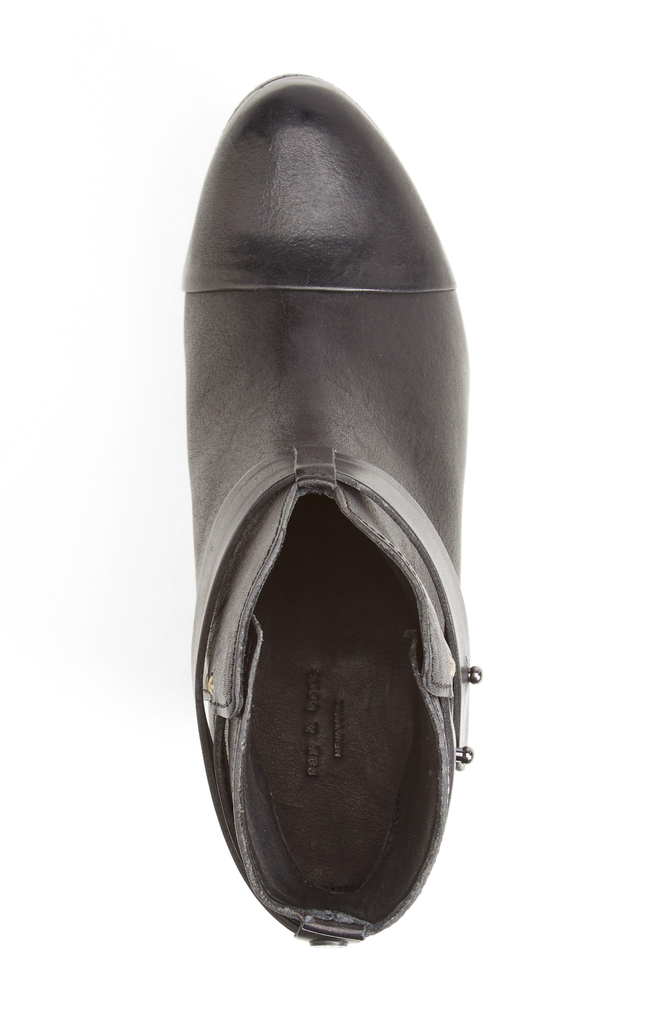 'Harrow' Leather Boot,                             Alternate thumbnail 3, color,                             BLACK
