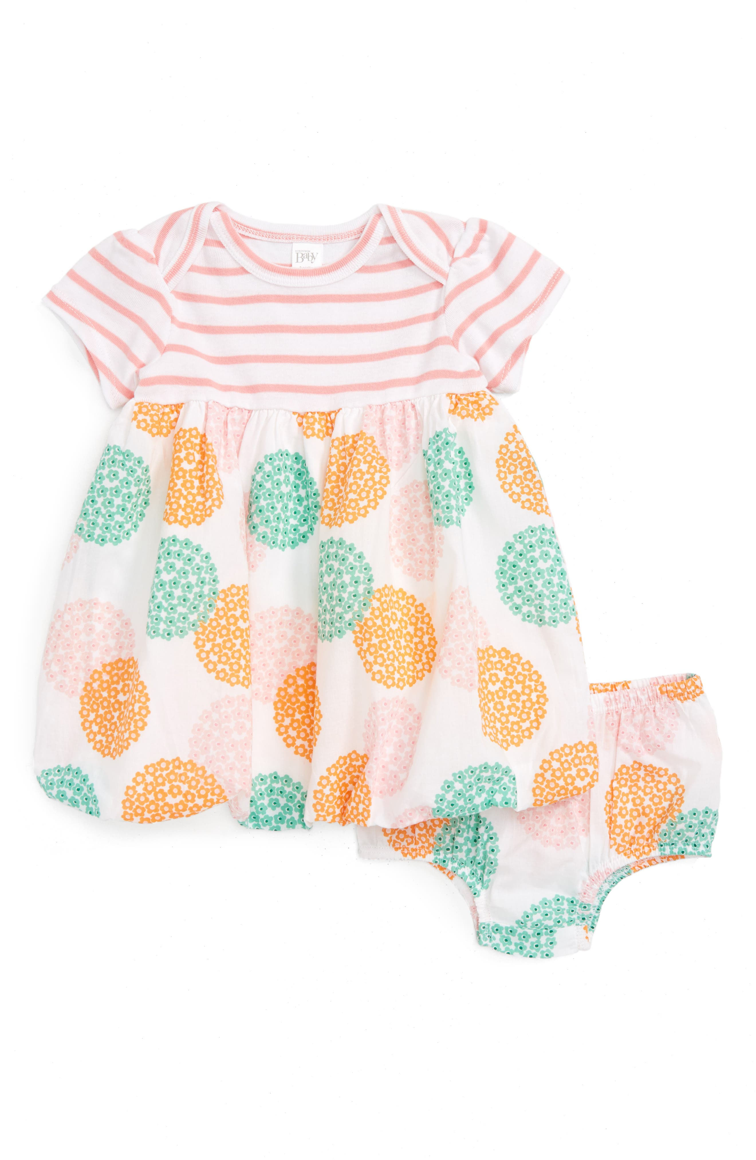 NORDSTROM BABY,                             Bubble Dress,                             Alternate thumbnail 2, color,                             100