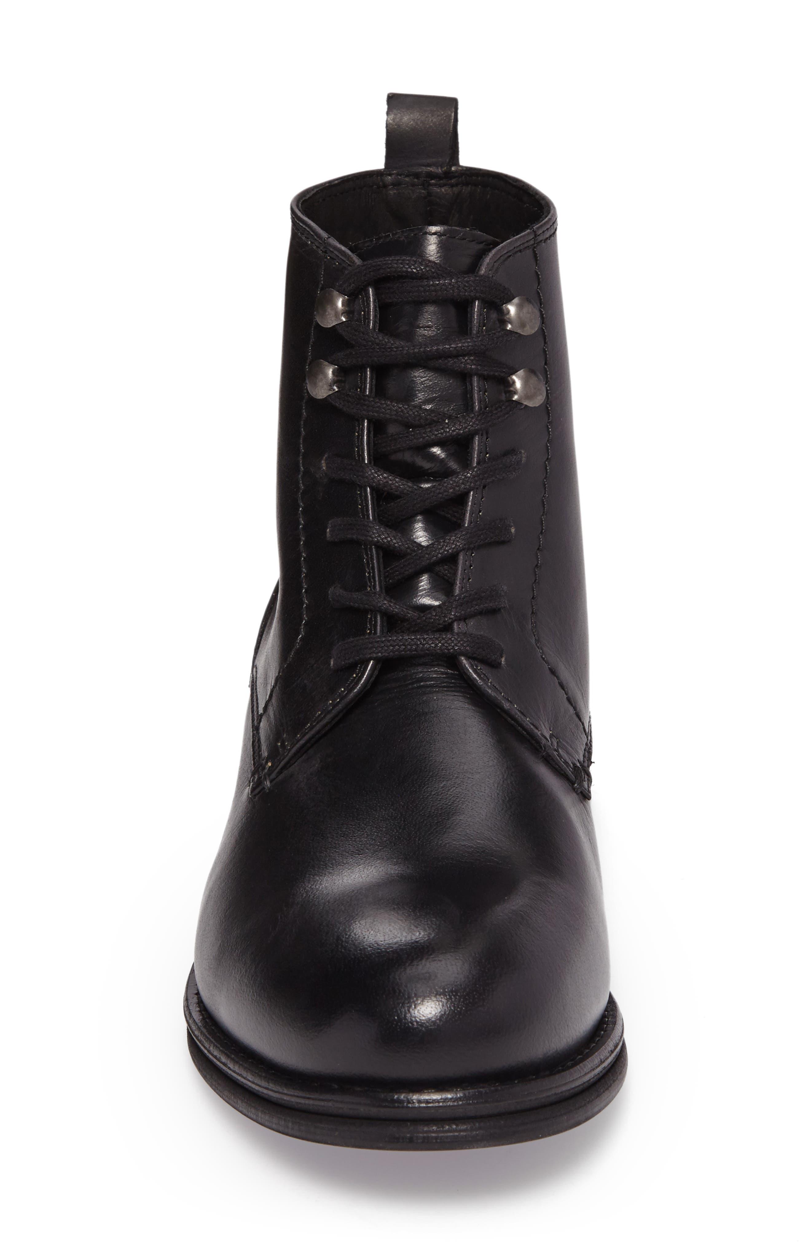 Cordie Plain Toe Boot,                             Alternate thumbnail 4, color,                             001