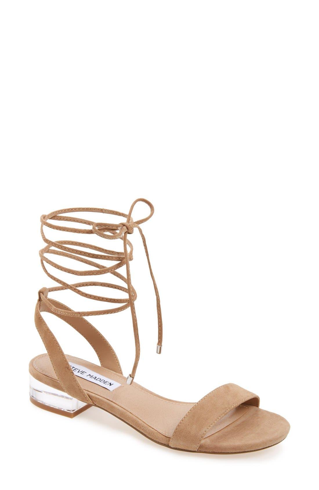 'Carolyn' Lace-Up Sandal,                             Main thumbnail 2, color,