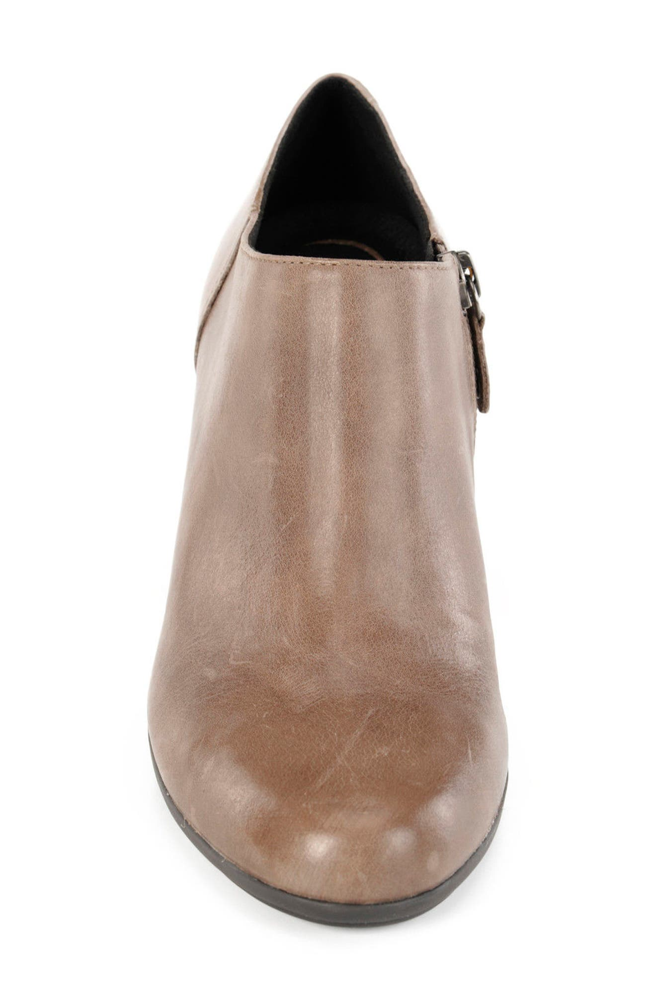 Annya Bootie,                             Alternate thumbnail 4, color,                             TAUPE LEATHER