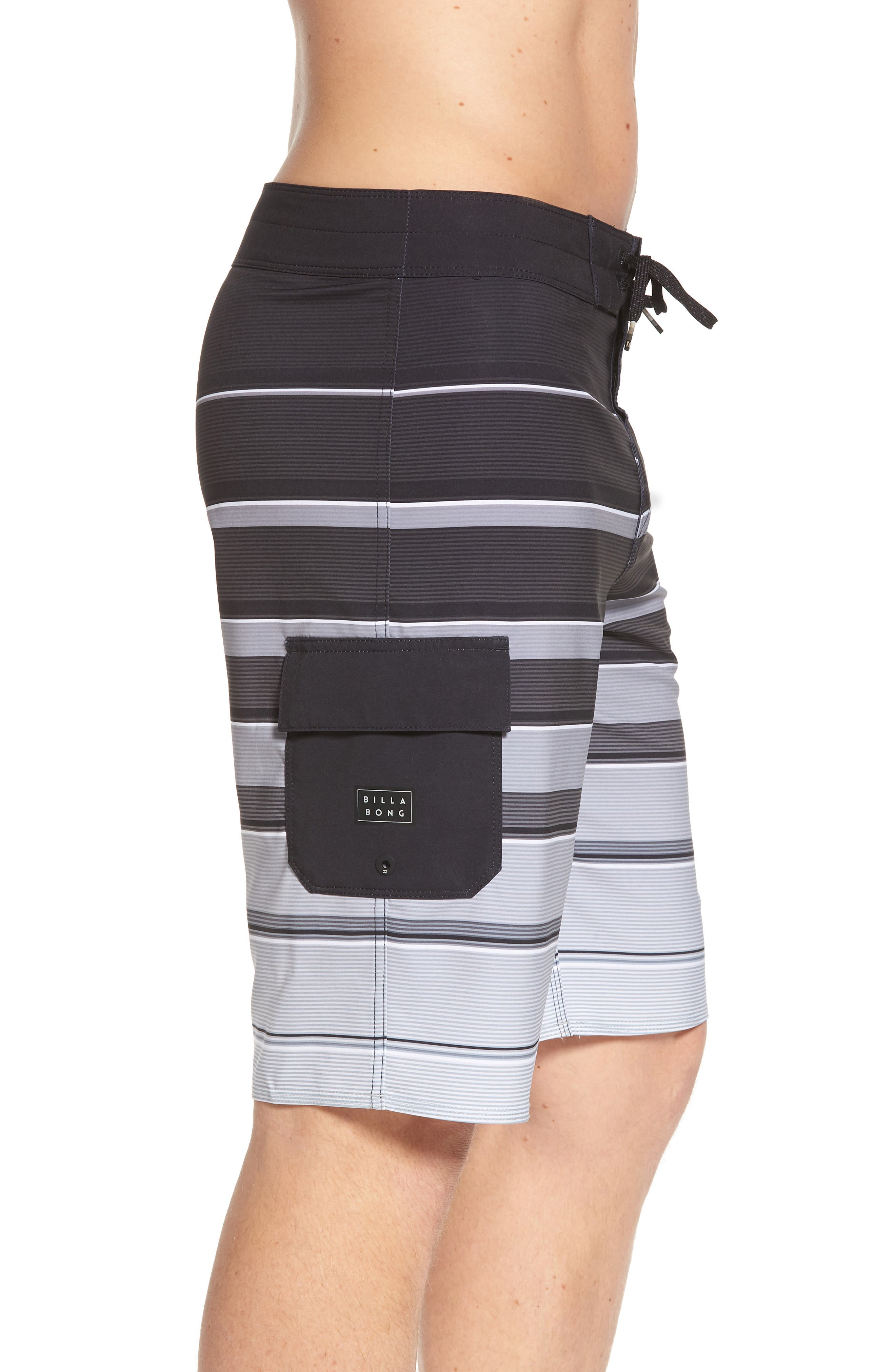 All Day X Stripe Board Shorts,                             Alternate thumbnail 3, color,                             001