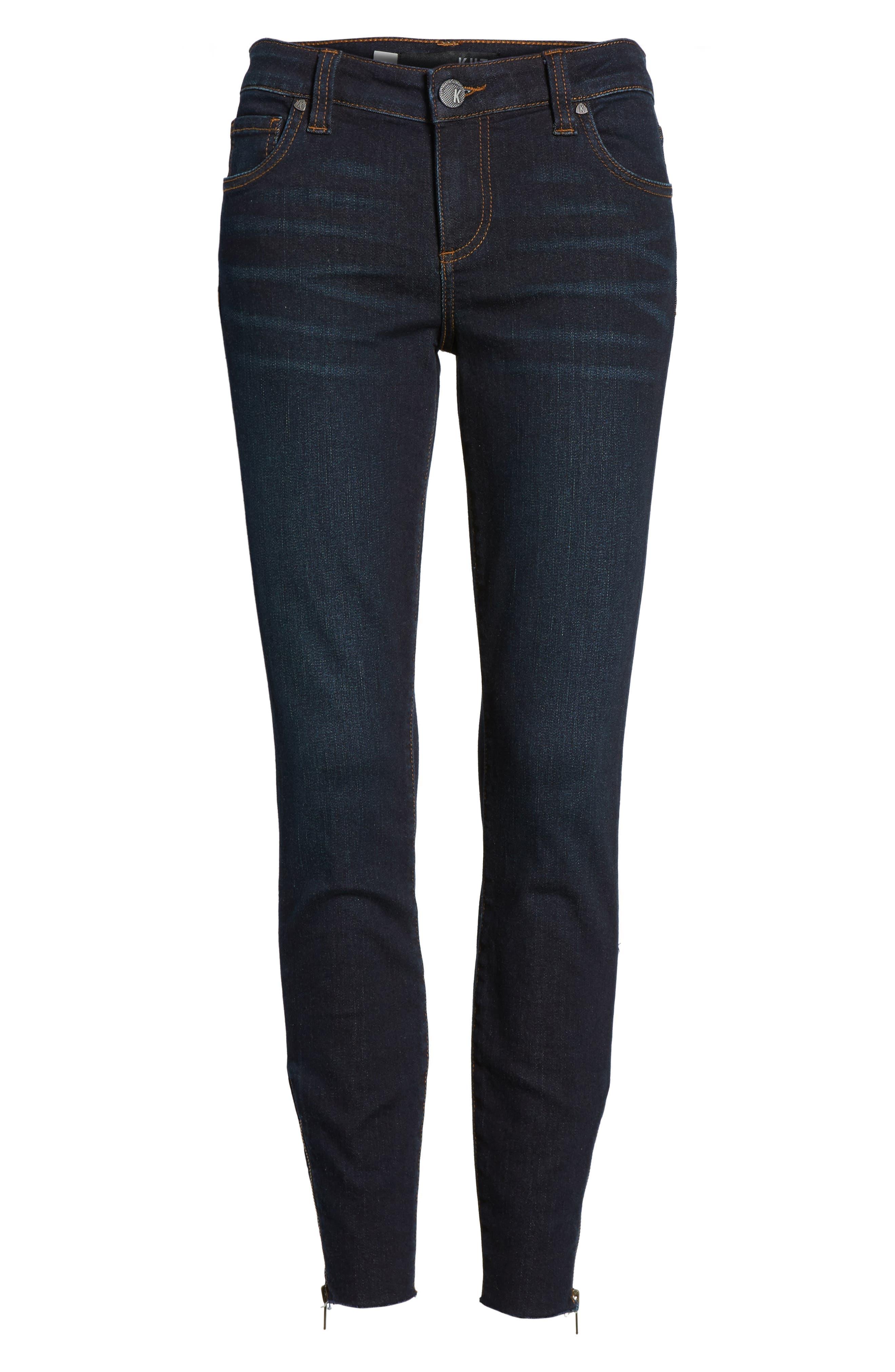 Connie Skinny Ankle Zip Hem Jeans,                             Alternate thumbnail 6, color,                             490