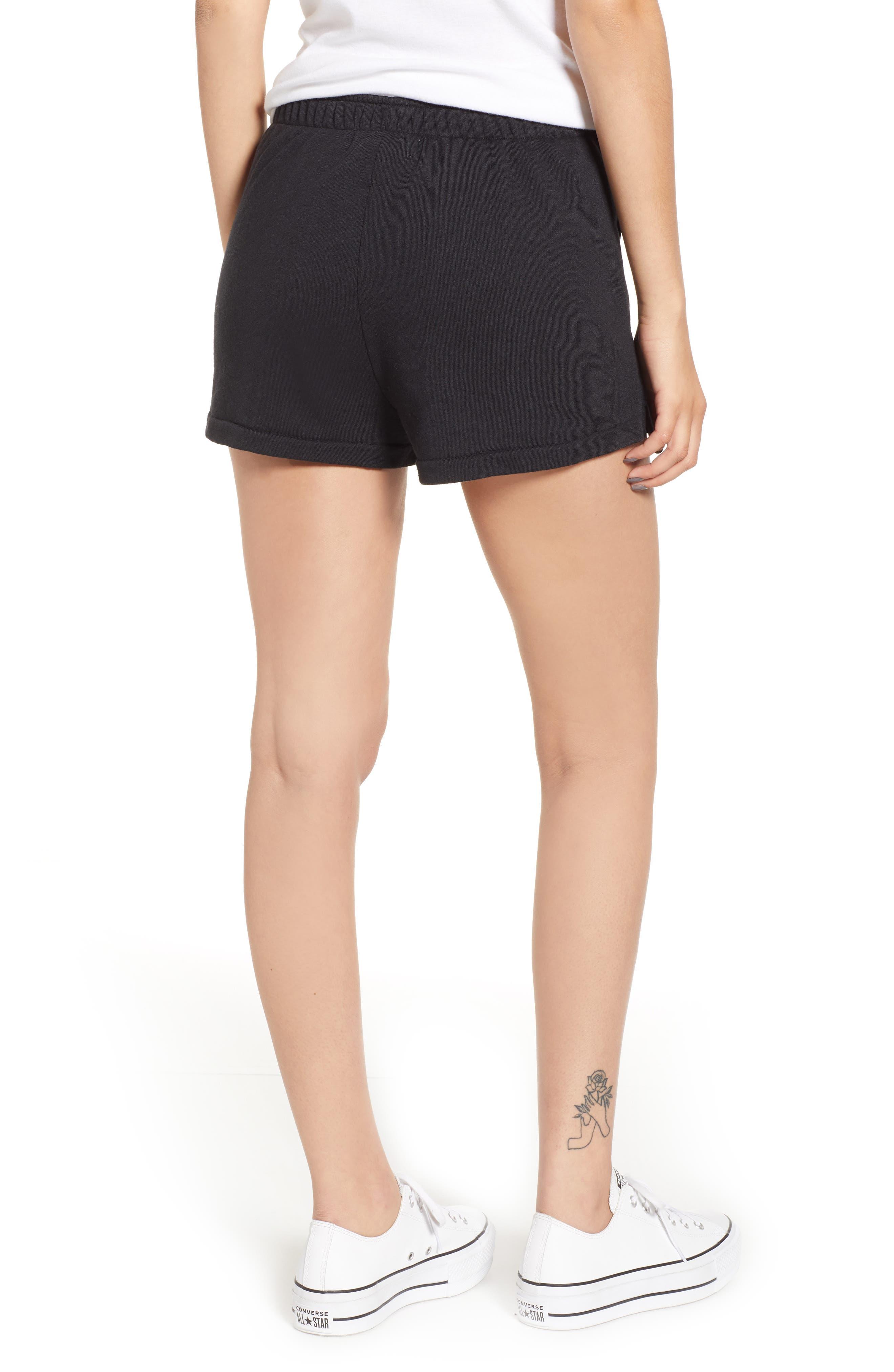 Golden Shorts,                             Alternate thumbnail 2, color,                             JET BLACK