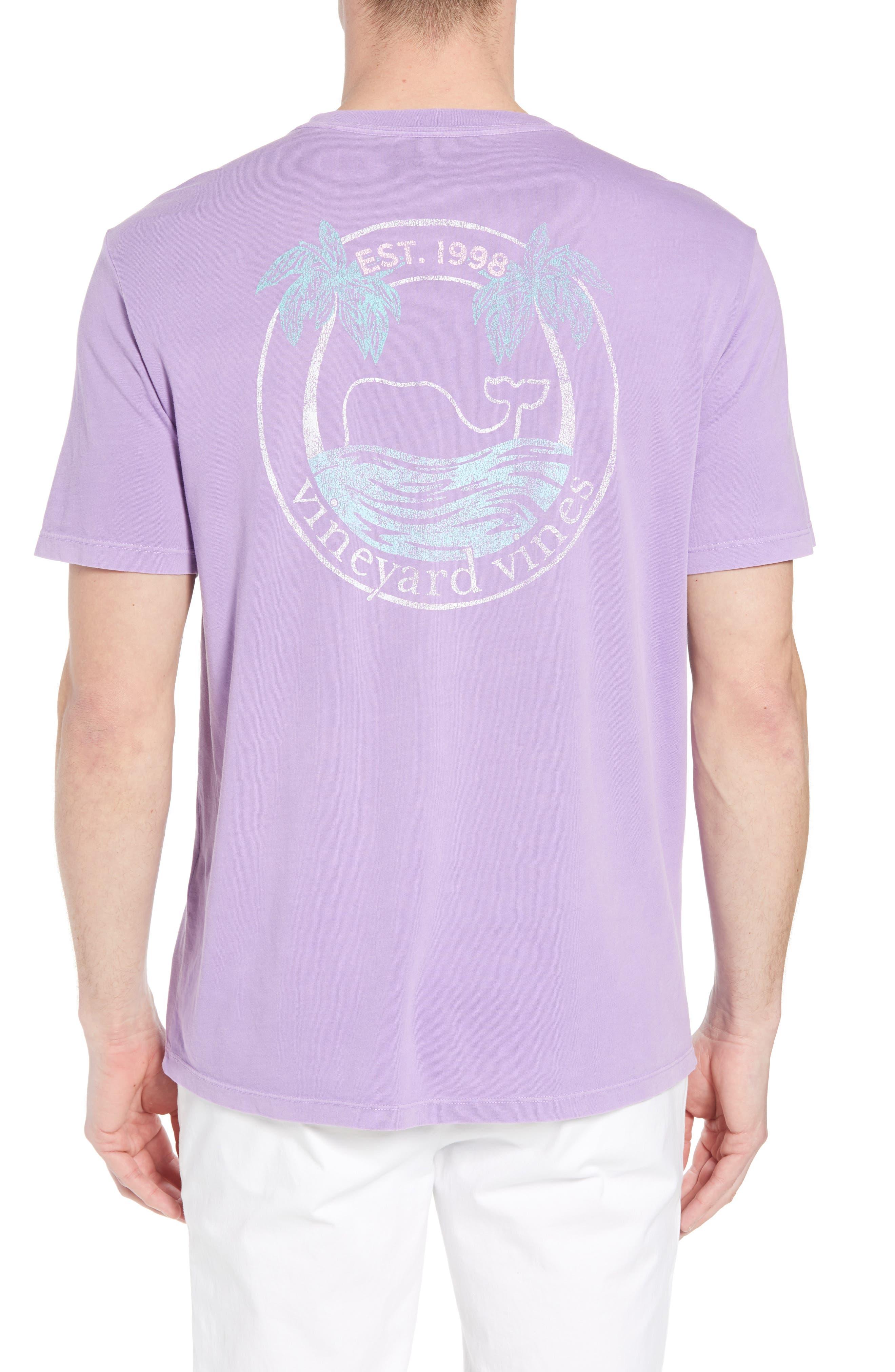 Tropical Crest Pima Cotton Pocket T-Shirt,                             Alternate thumbnail 2, color,