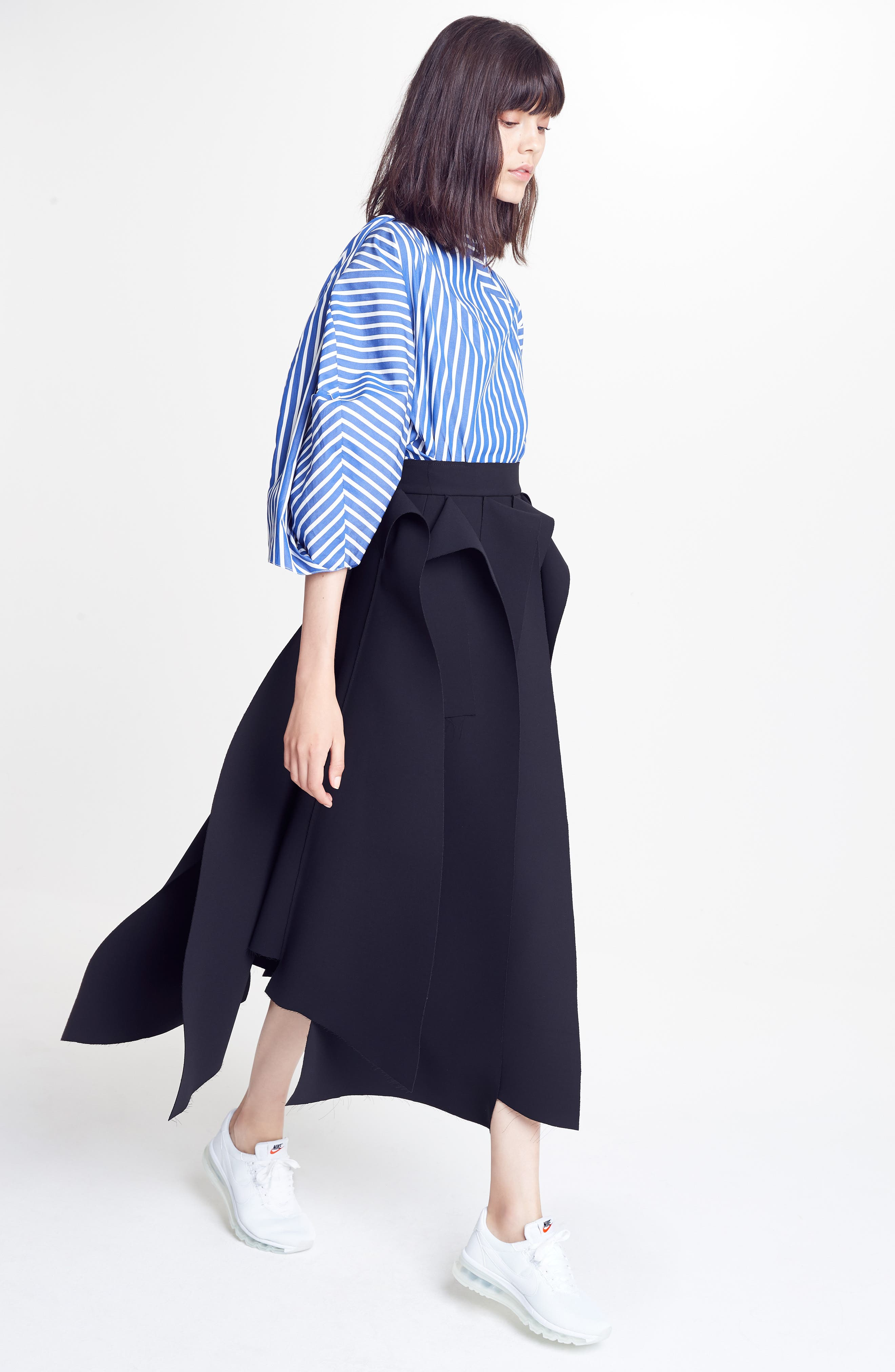 Twisted Sleeve Blouse,                             Alternate thumbnail 7, color,                             400