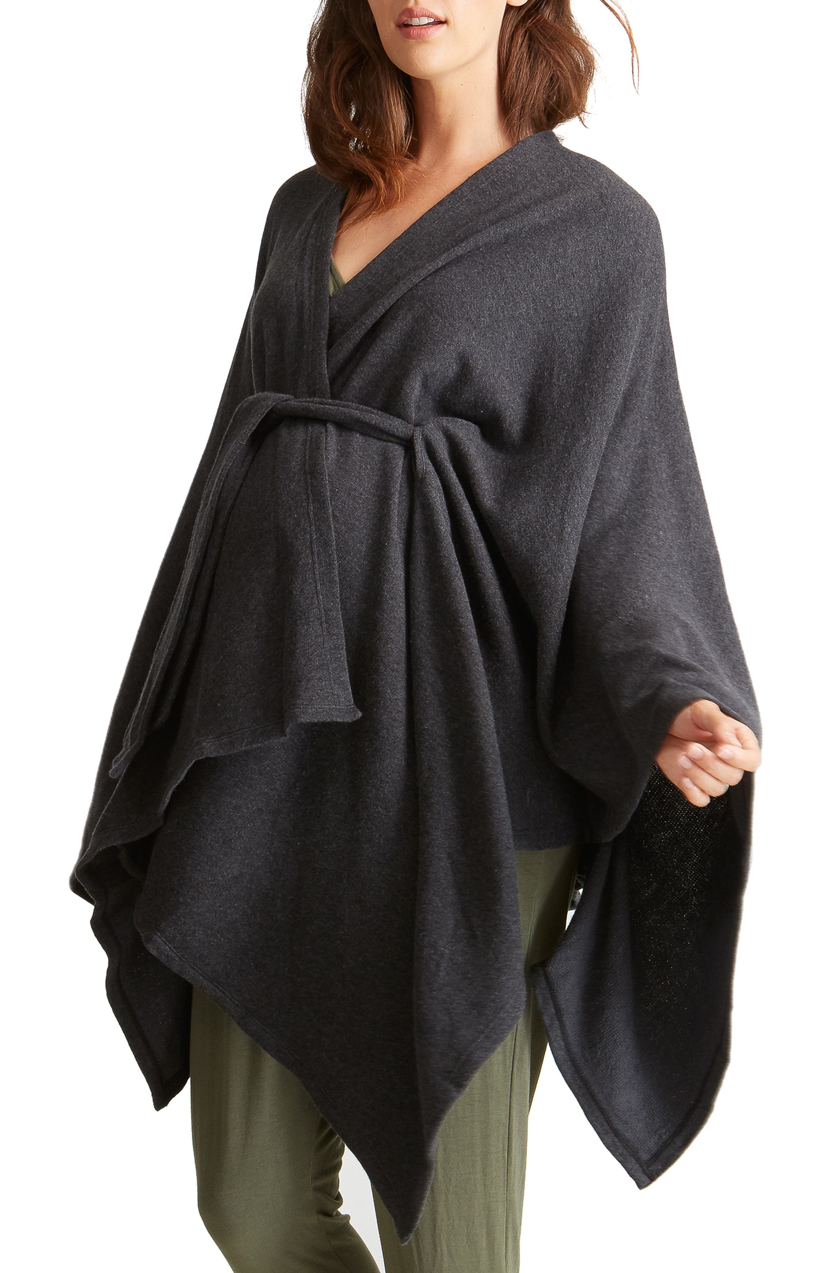Cozy Maternity Wrap,                             Main thumbnail 1, color,                             CHARCOAL GREY