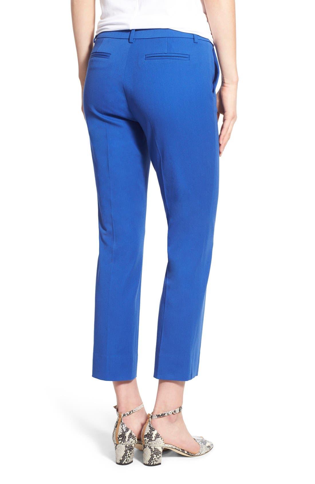 Crop Stretch Cotton Pants,                             Alternate thumbnail 77, color,