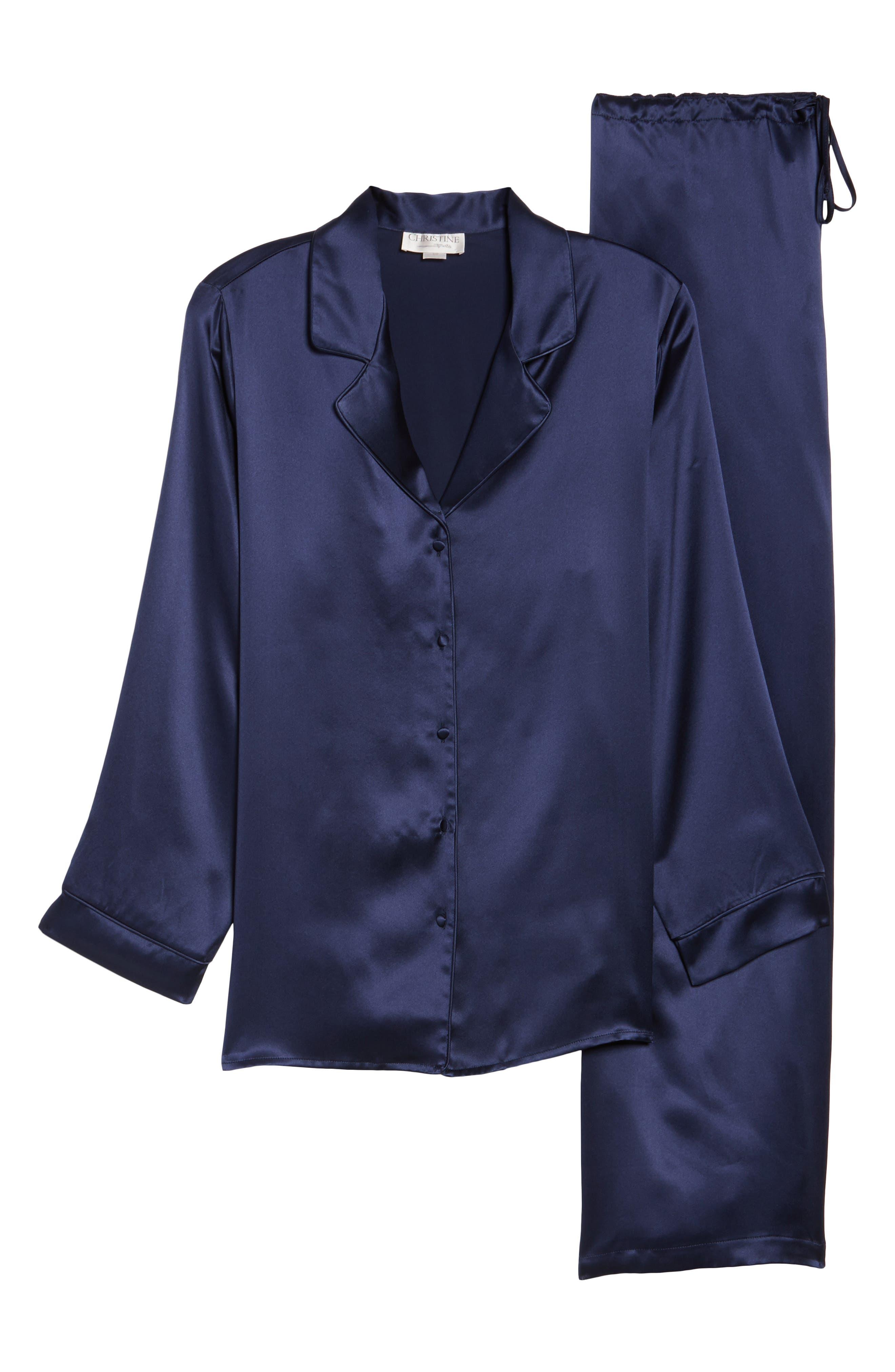 Silk Pajamas,                             Alternate thumbnail 6, color,                             410