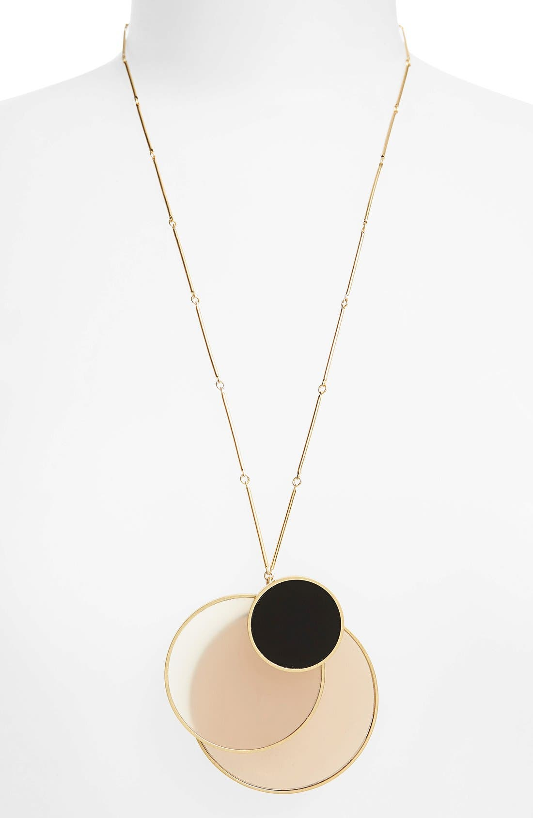 Circle Cluster Pendant Necklace,                             Alternate thumbnail 2, color,