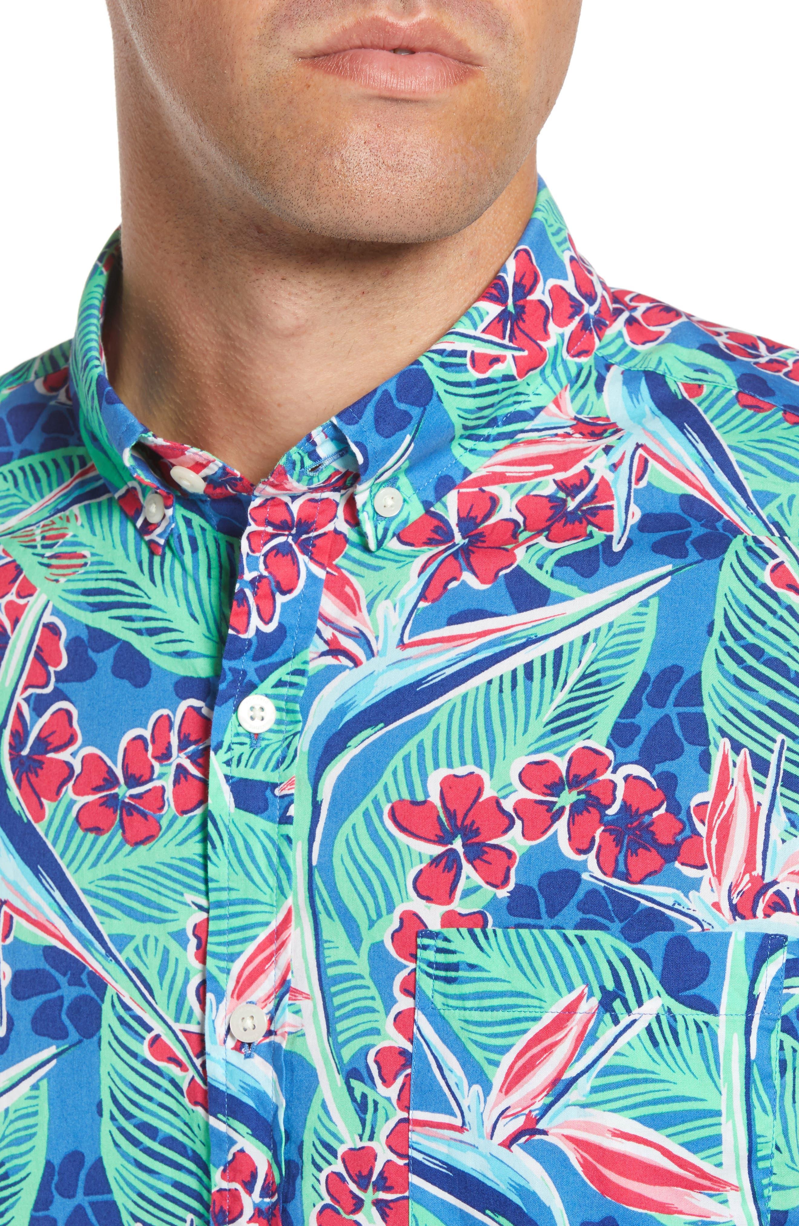 Murray Slim Fit Floral Sport Shirt,                             Alternate thumbnail 2, color,                             400