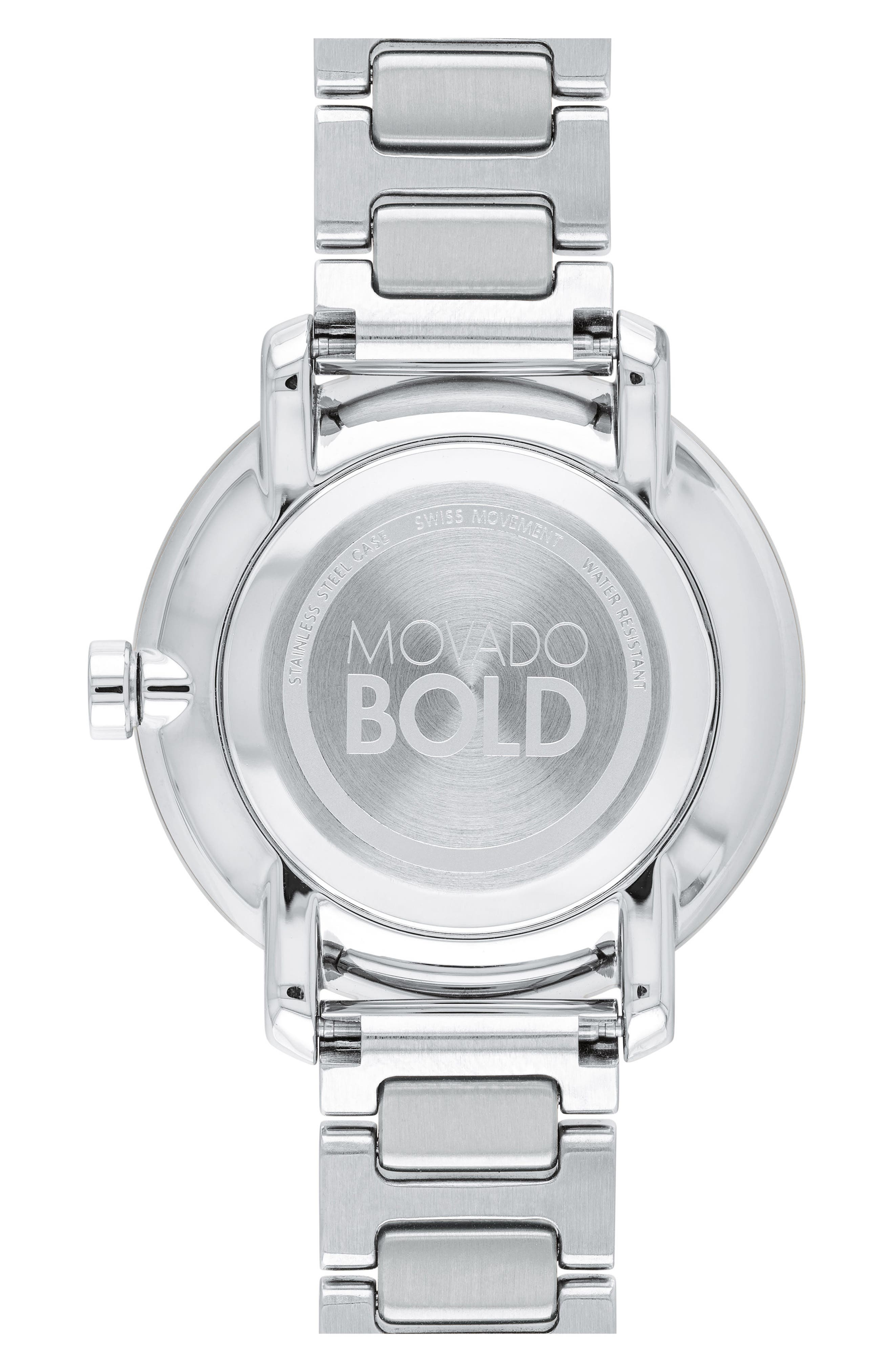 Bold Bracelet Watch, 34mm,                             Alternate thumbnail 2, color,                             SILVER