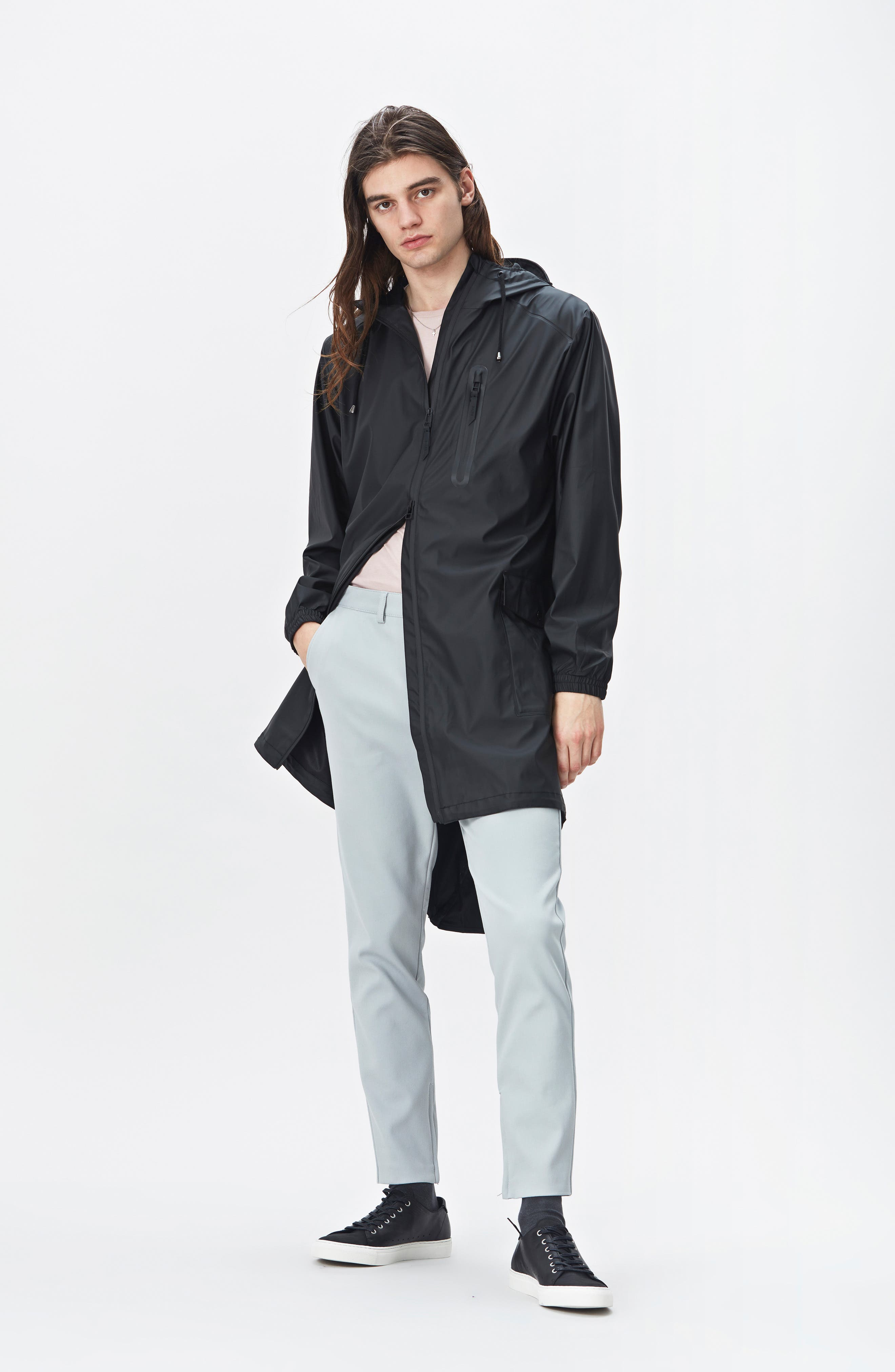 Waterproof Parka Coat,                             Alternate thumbnail 7, color,                             BLACK