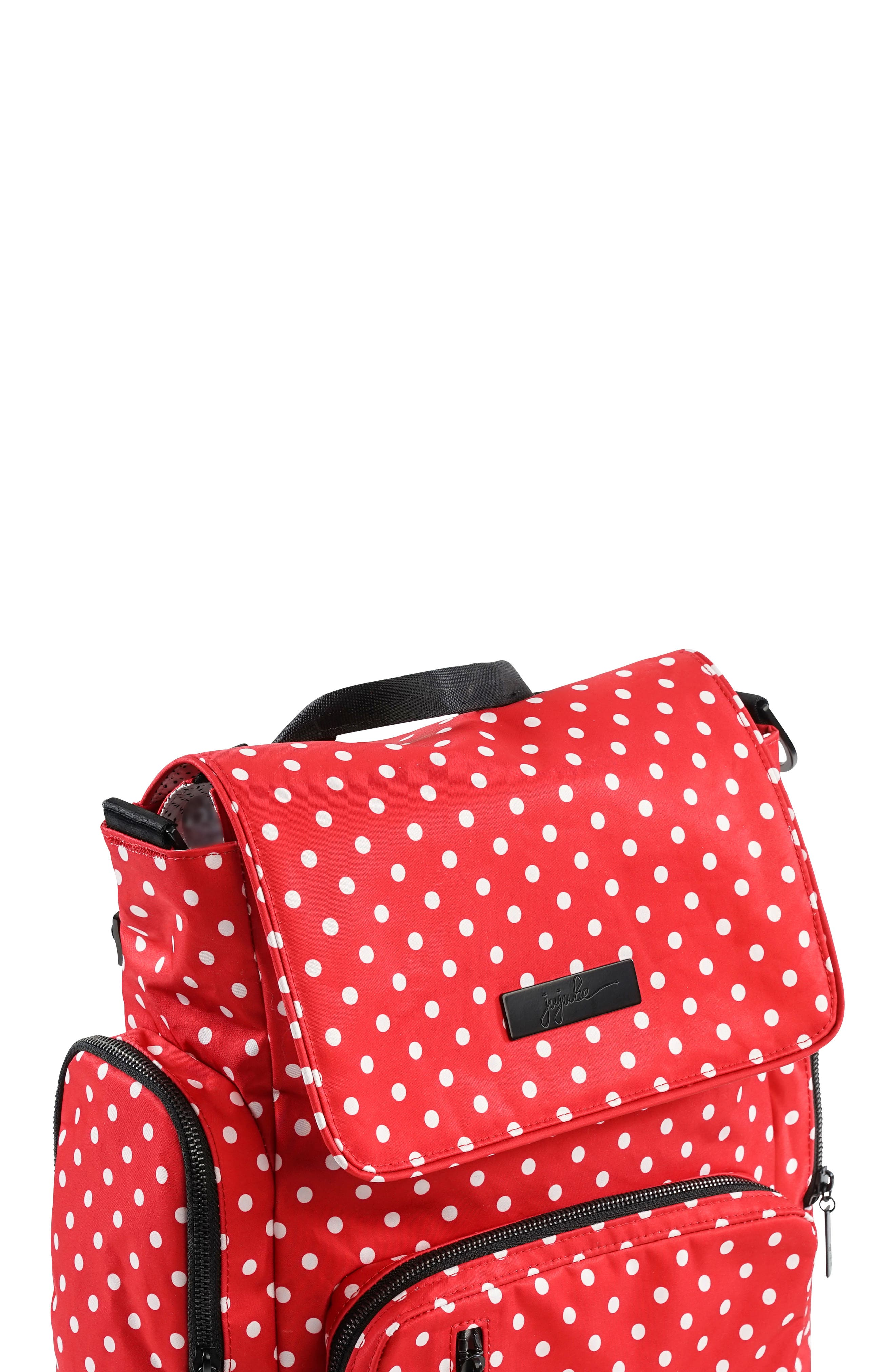 Onyx Be Sporty Diaper Backpack,                             Alternate thumbnail 4, color,                             BLACK RUBY