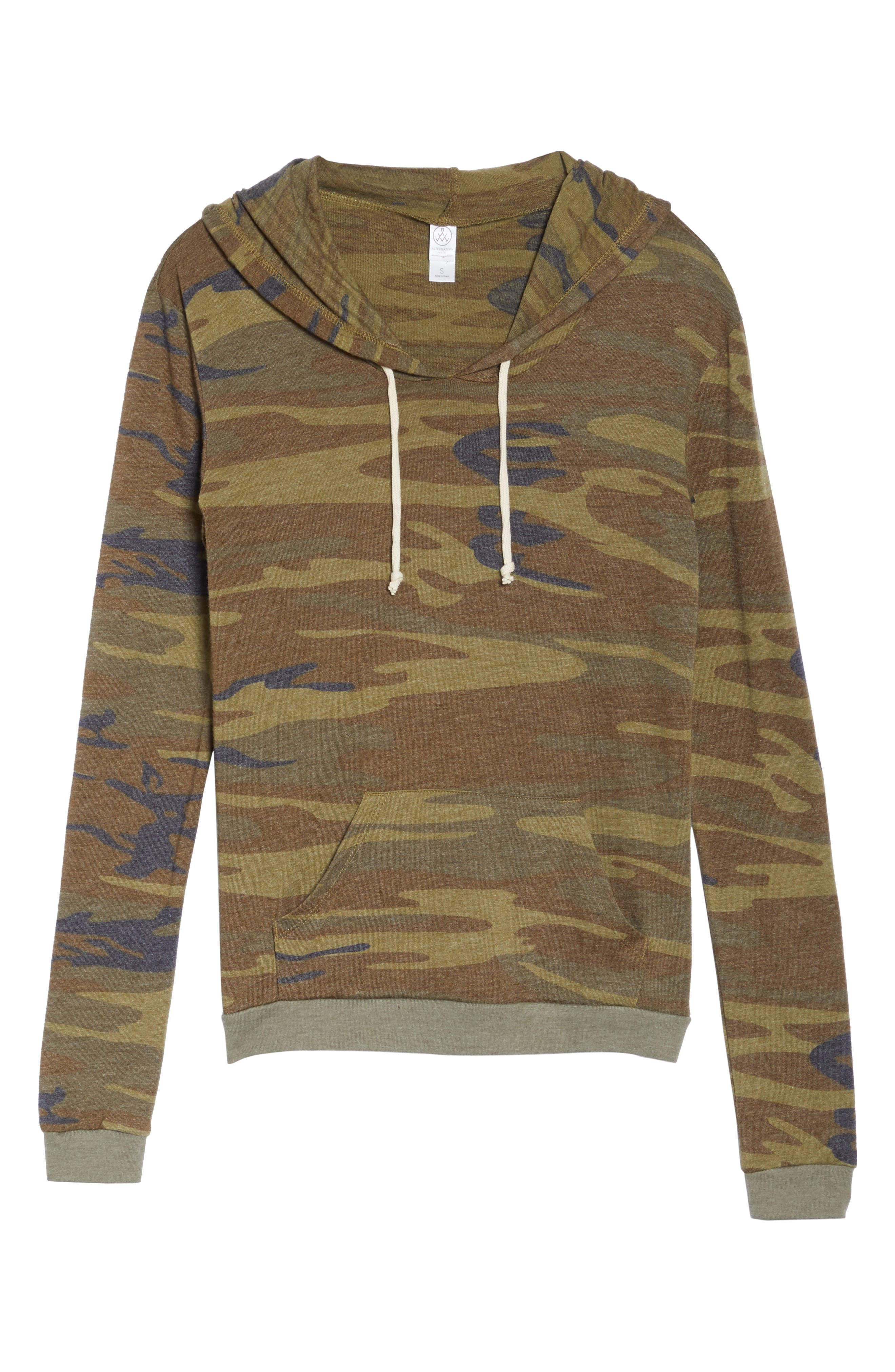 Camo Print Pullover Hoodie,                             Alternate thumbnail 6, color,                             300