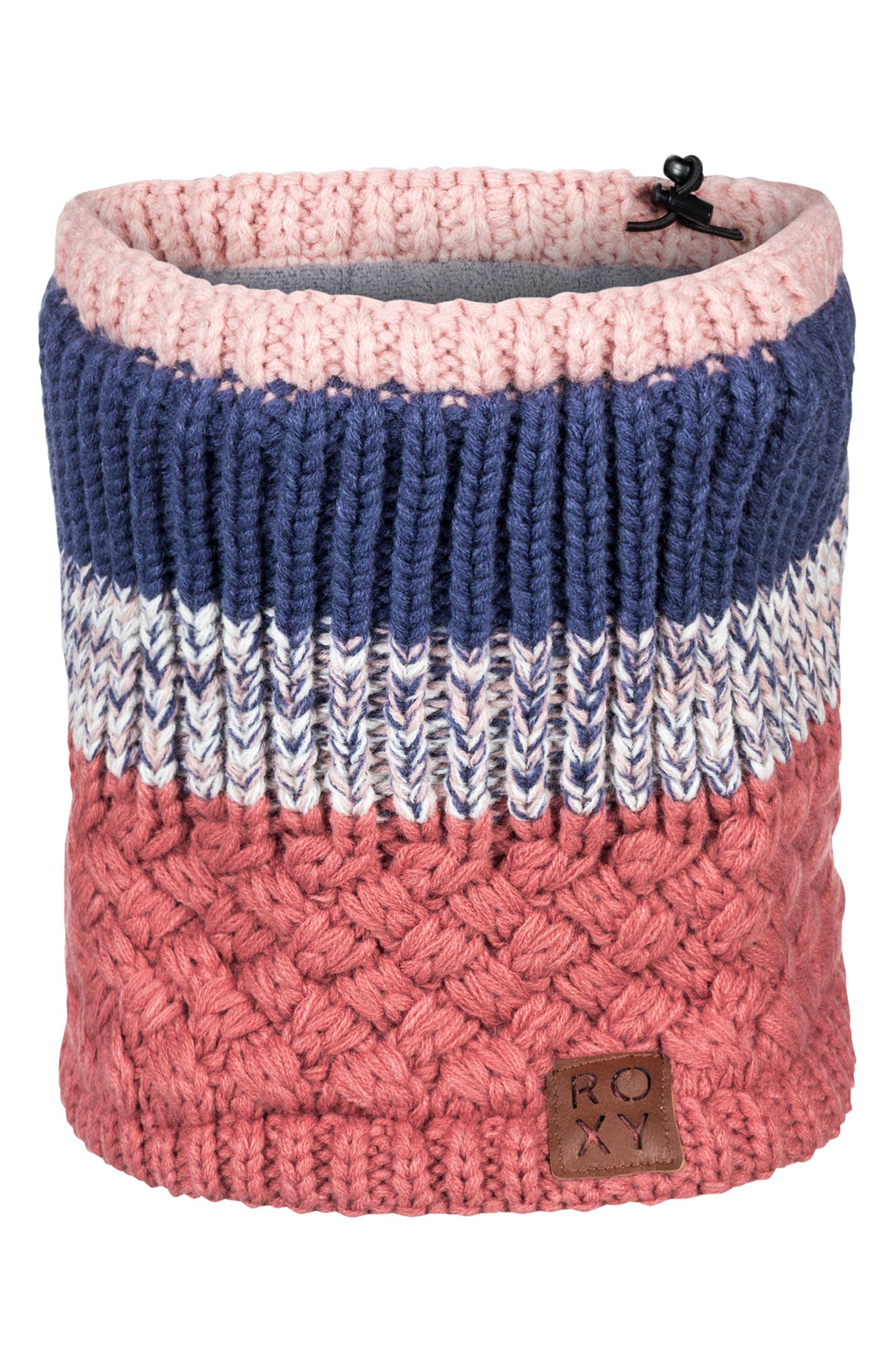Hailey Knit Neck Gaiter,                             Main thumbnail 1, color,                             DUSTY CEDAR