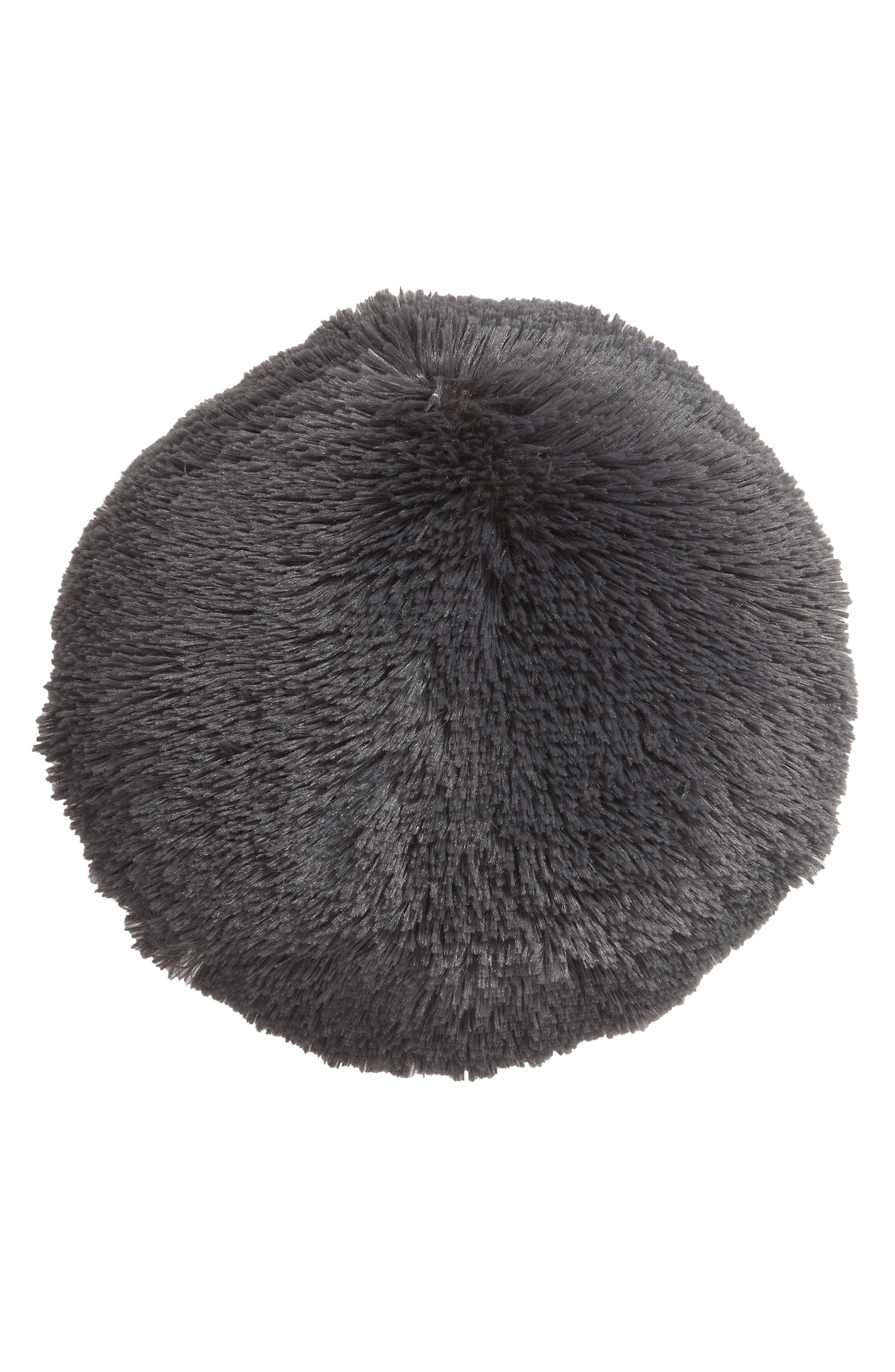 Feather Faux Fur Pillow,                         Main,                         color, GREY MAGNET