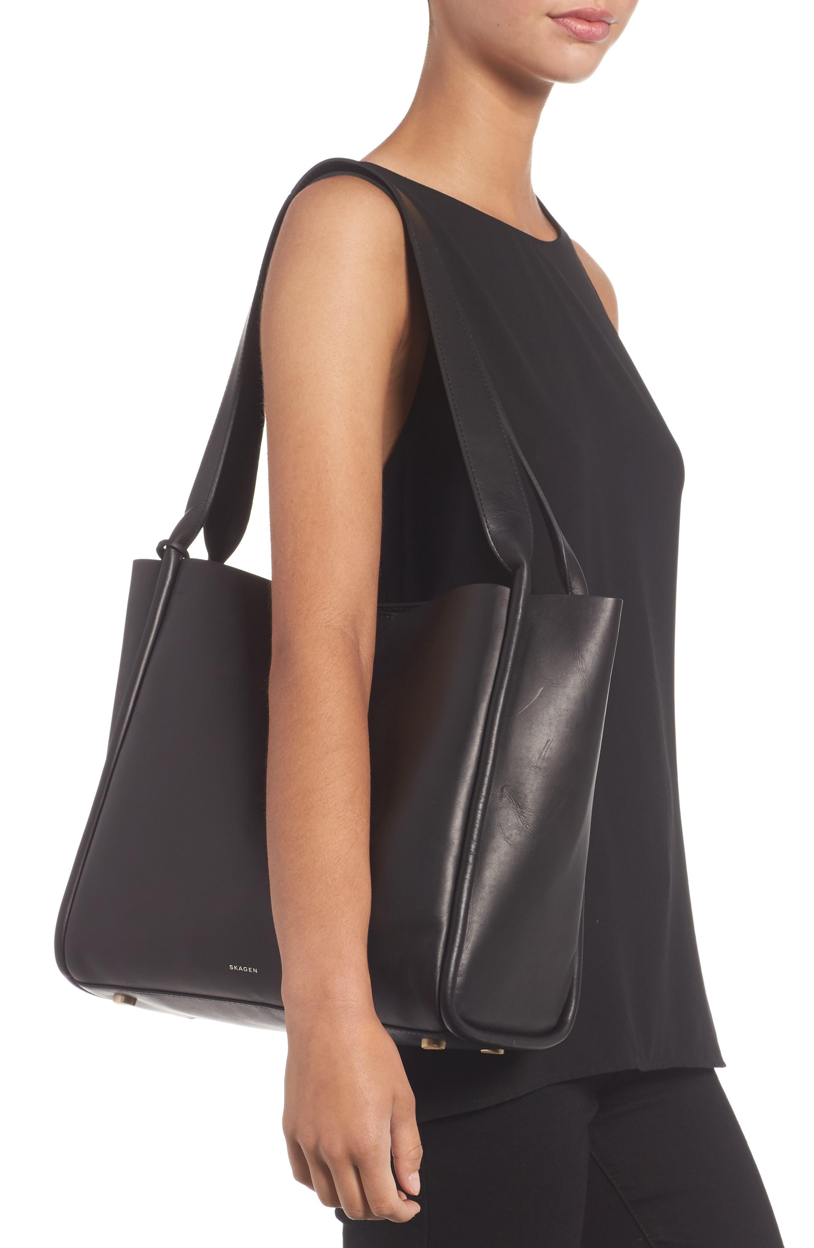 Karalie Leather Shoulder Bag,                             Alternate thumbnail 4, color,