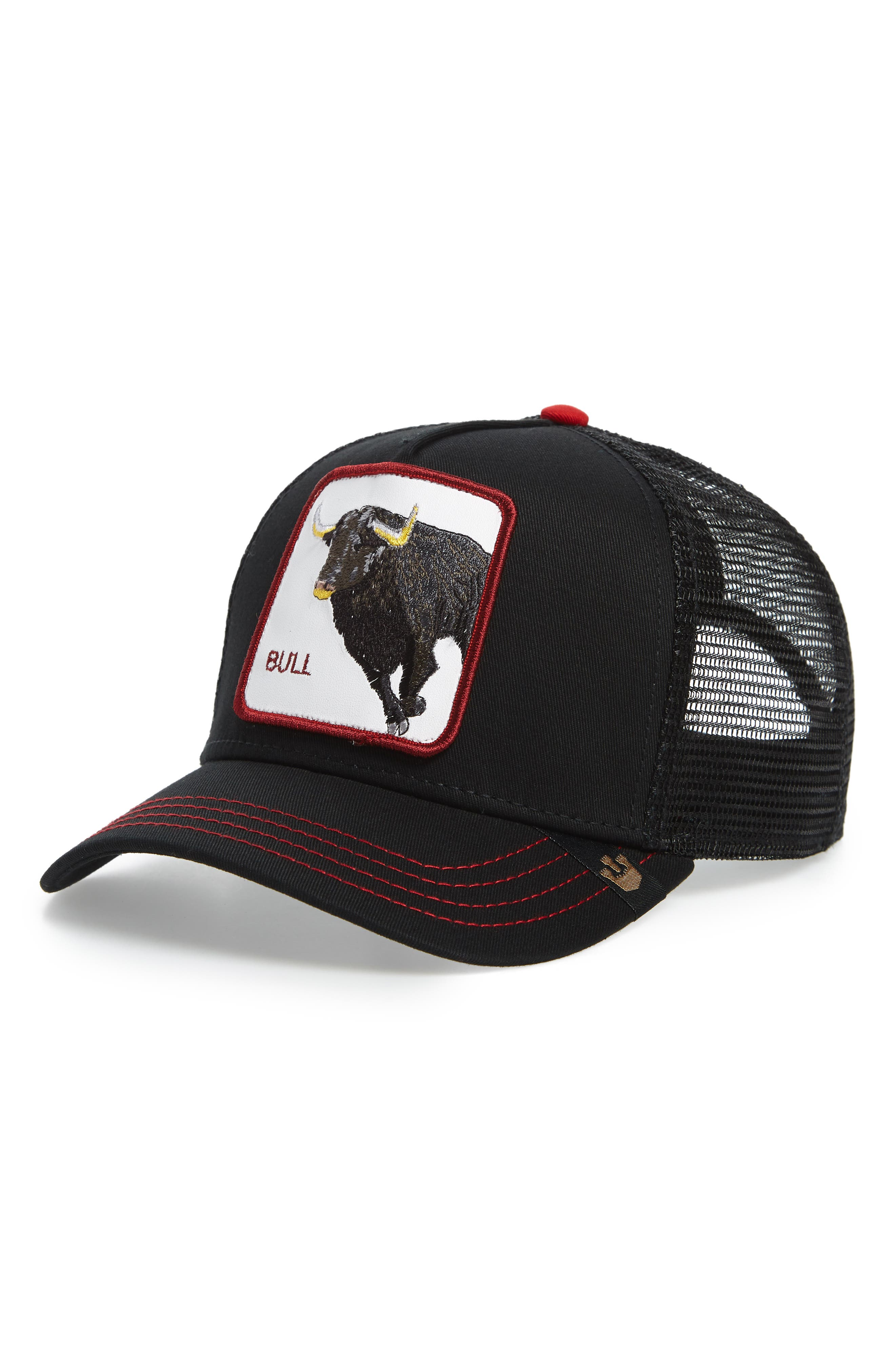 GOORIN BROTHERS Bull Honky Trucker Hat, Main, color, 001
