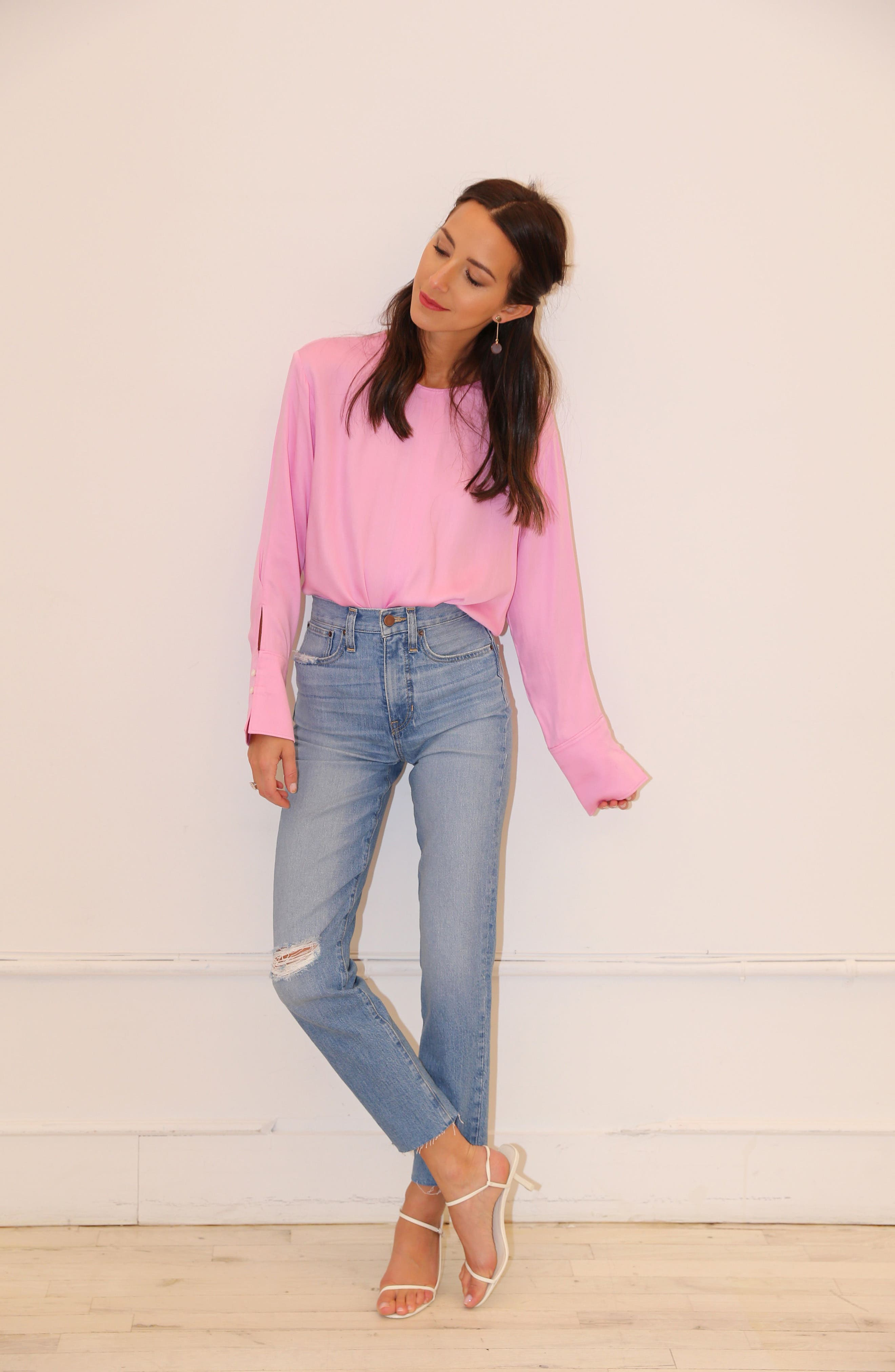 SOMETHING NAVY,                             Easy Woven Top,                             Alternate thumbnail 2, color,                             PINK CHIFFON