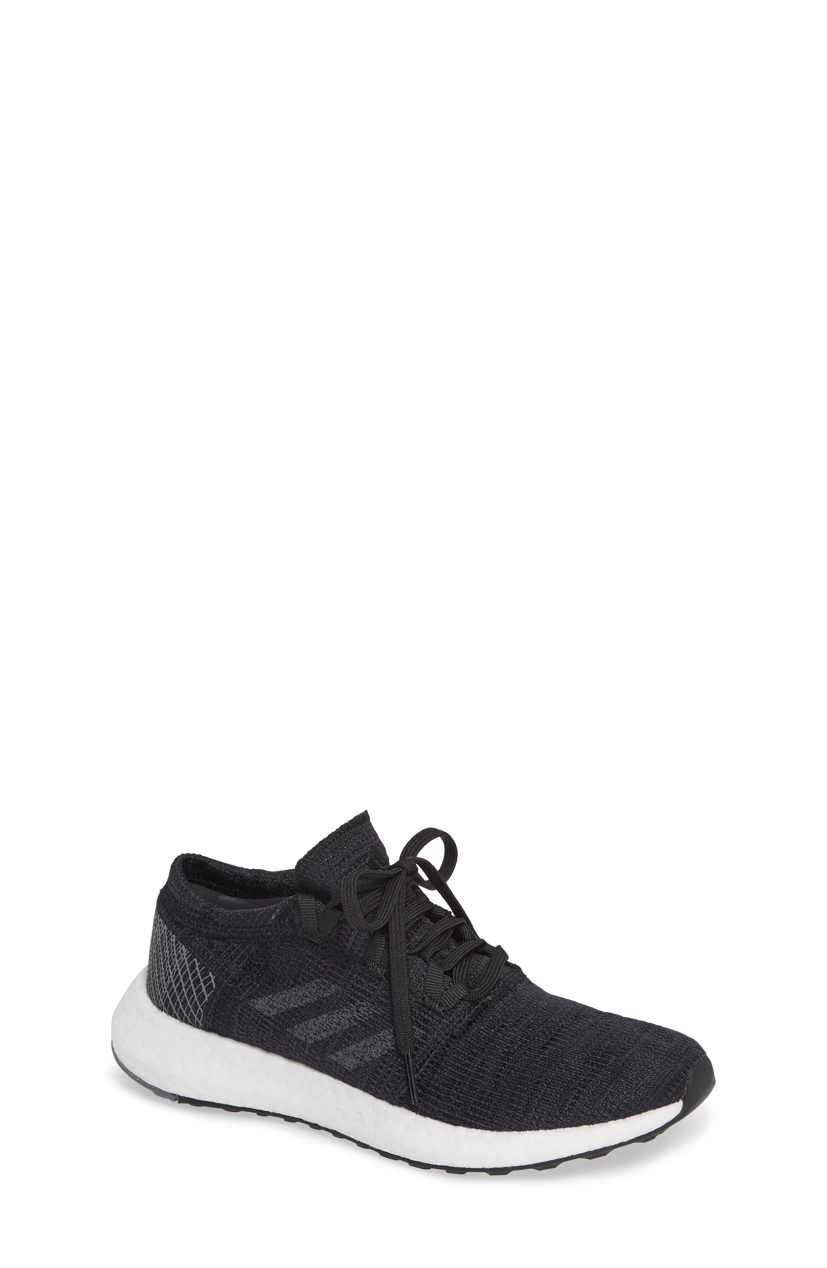 PureBoost GO Running Shoe,                             Main thumbnail 1, color,                             BLACK/ GREY