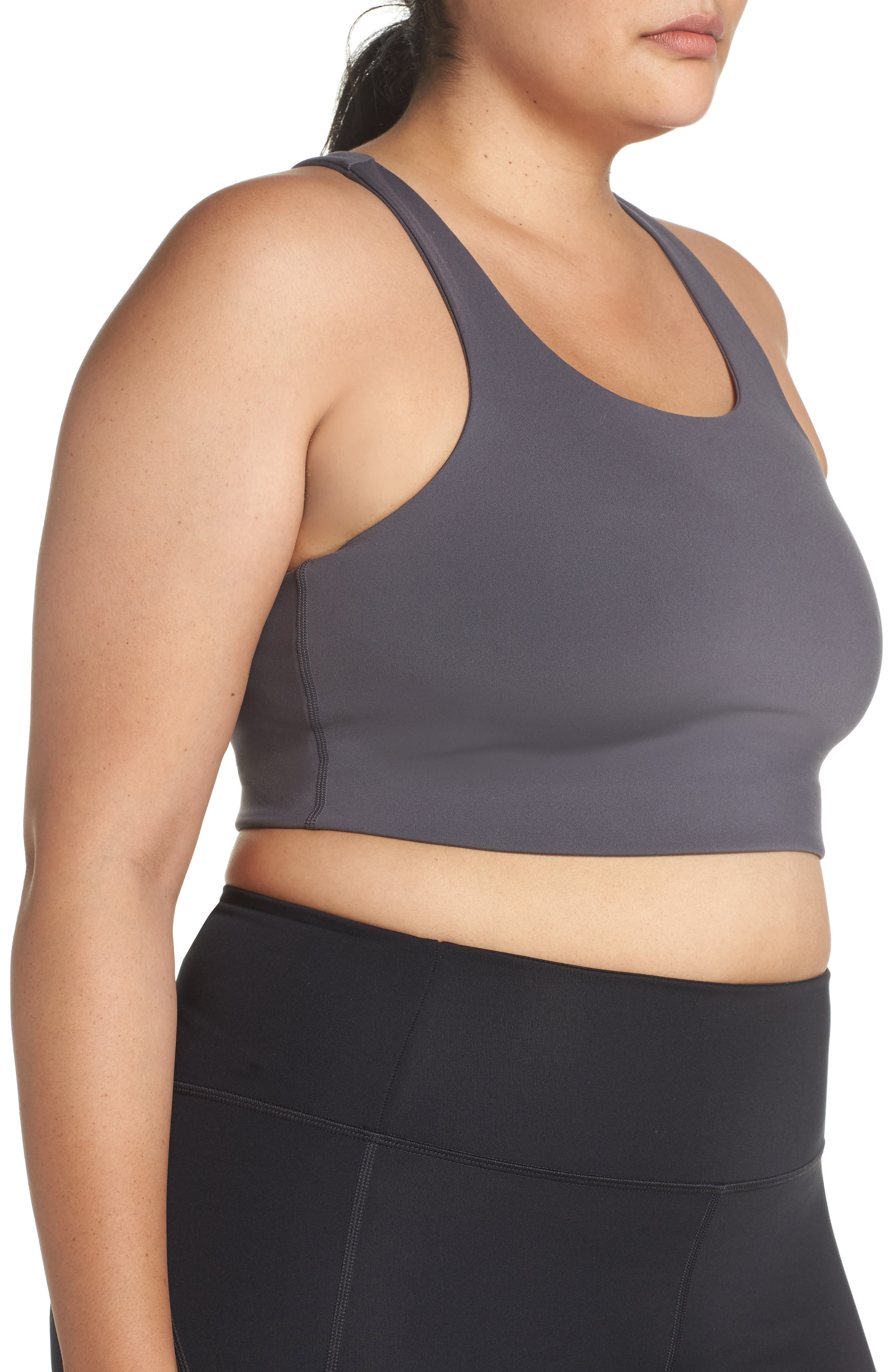 Paloma Sports Bra,                             Alternate thumbnail 13, color,                             SMOKE