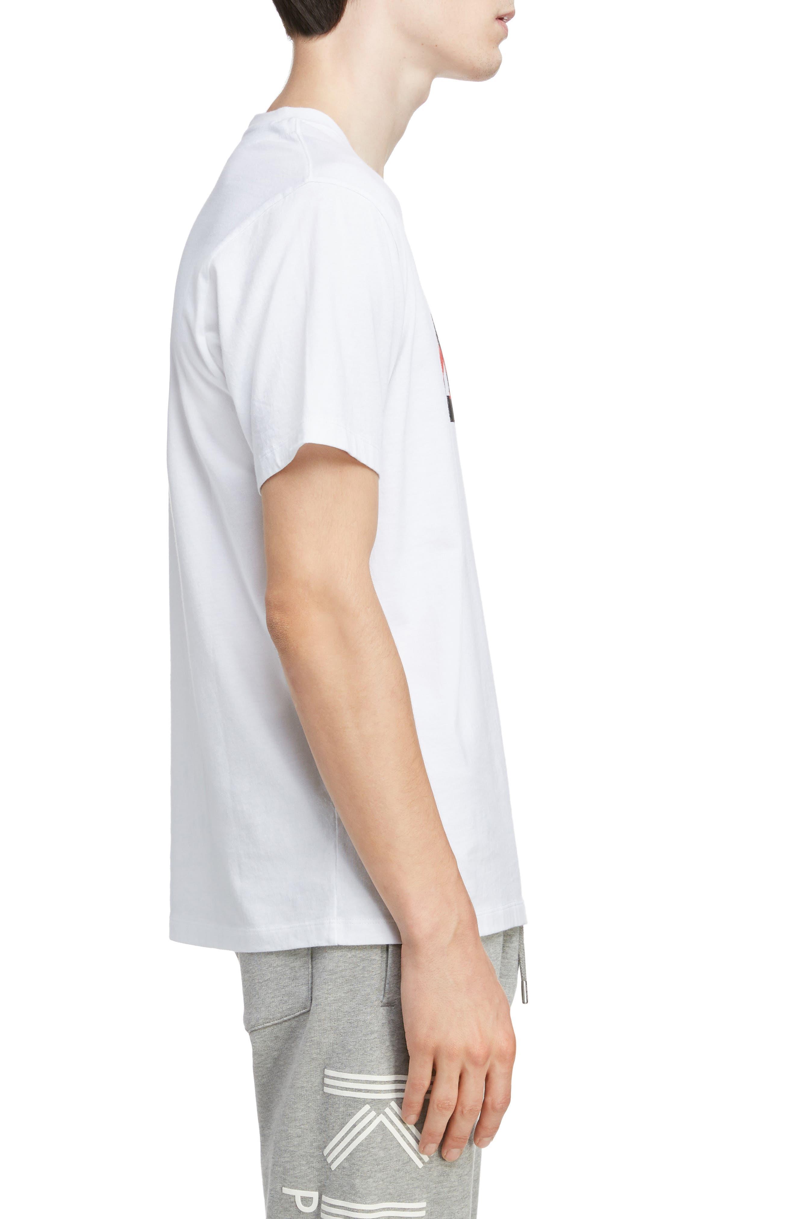 KENZO,                             Classic Fit Logo T-Shirt,                             Alternate thumbnail 3, color,                             WHITE