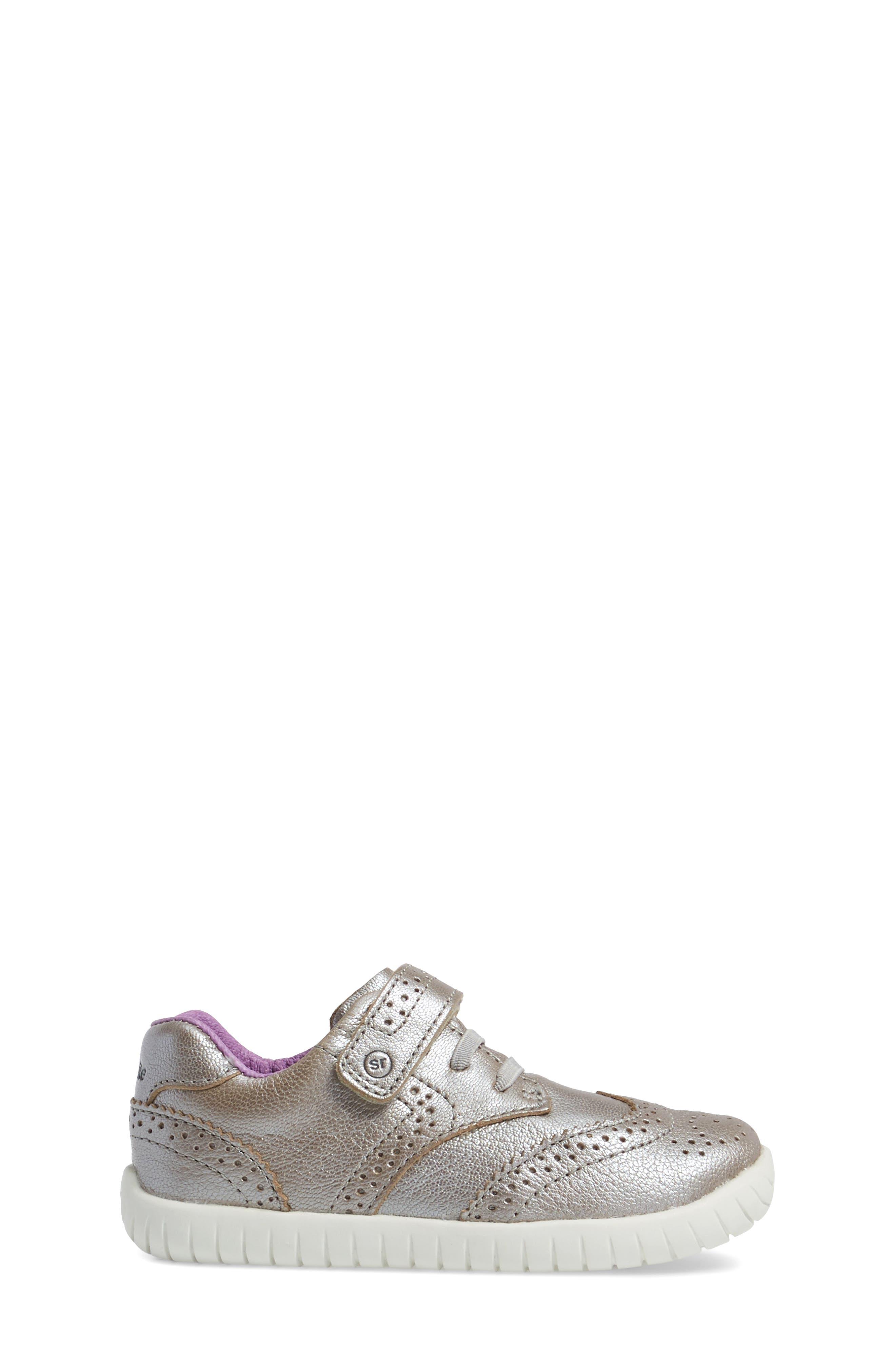 Addison Metallic Wingtip Sneaker,                             Alternate thumbnail 3, color,                             040