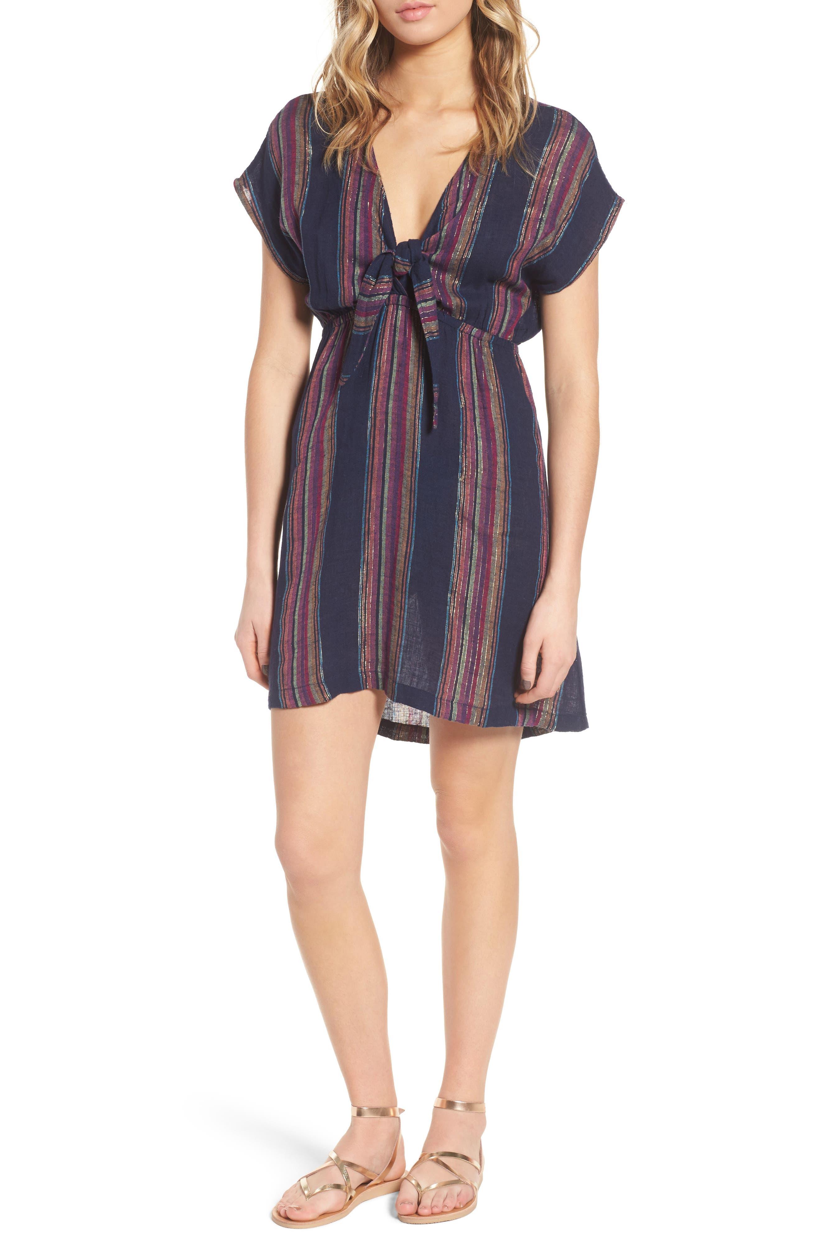 Tie Front Dress,                         Main,                         color, 410