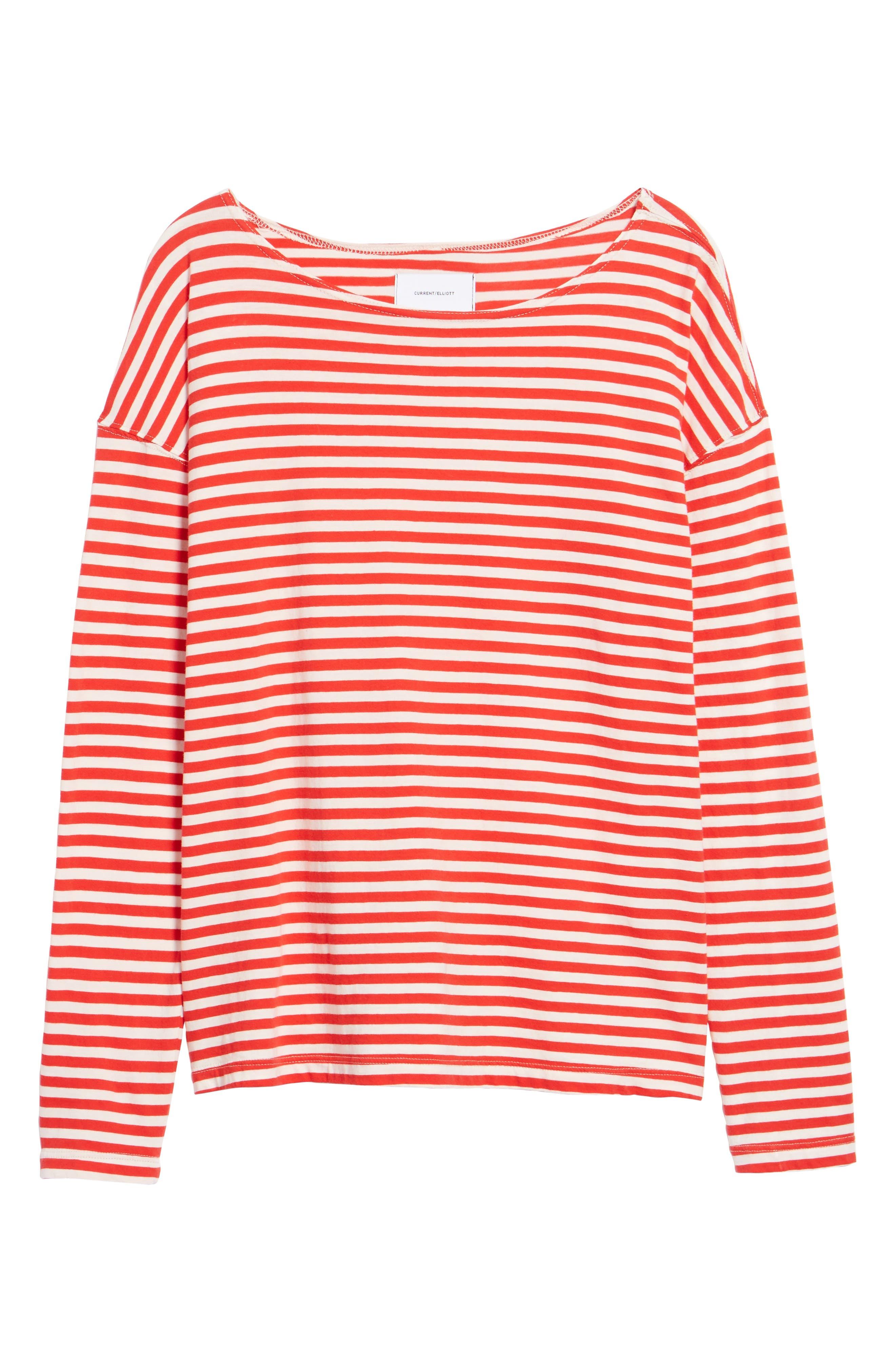 Classic Fit Breton Stripe T-Shirt,                             Alternate thumbnail 6, color,                             611