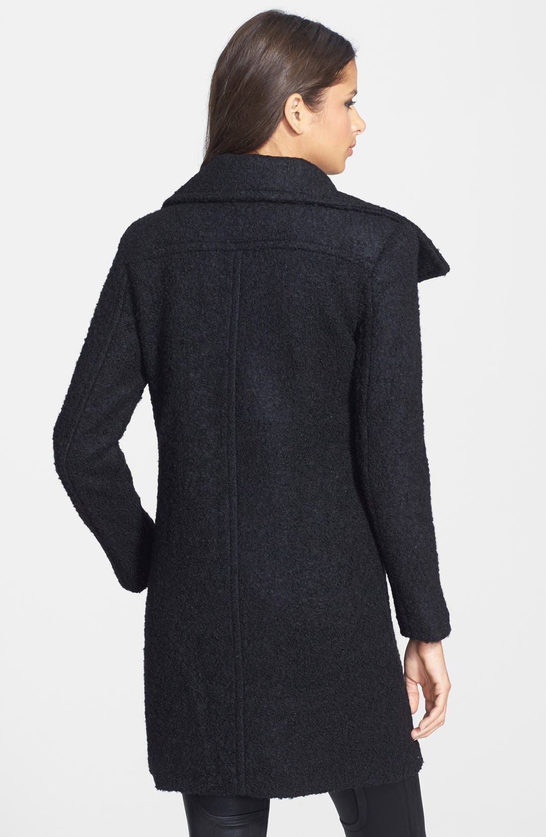 Asymmetrical Zip Coat,                             Alternate thumbnail 3, color,                             001