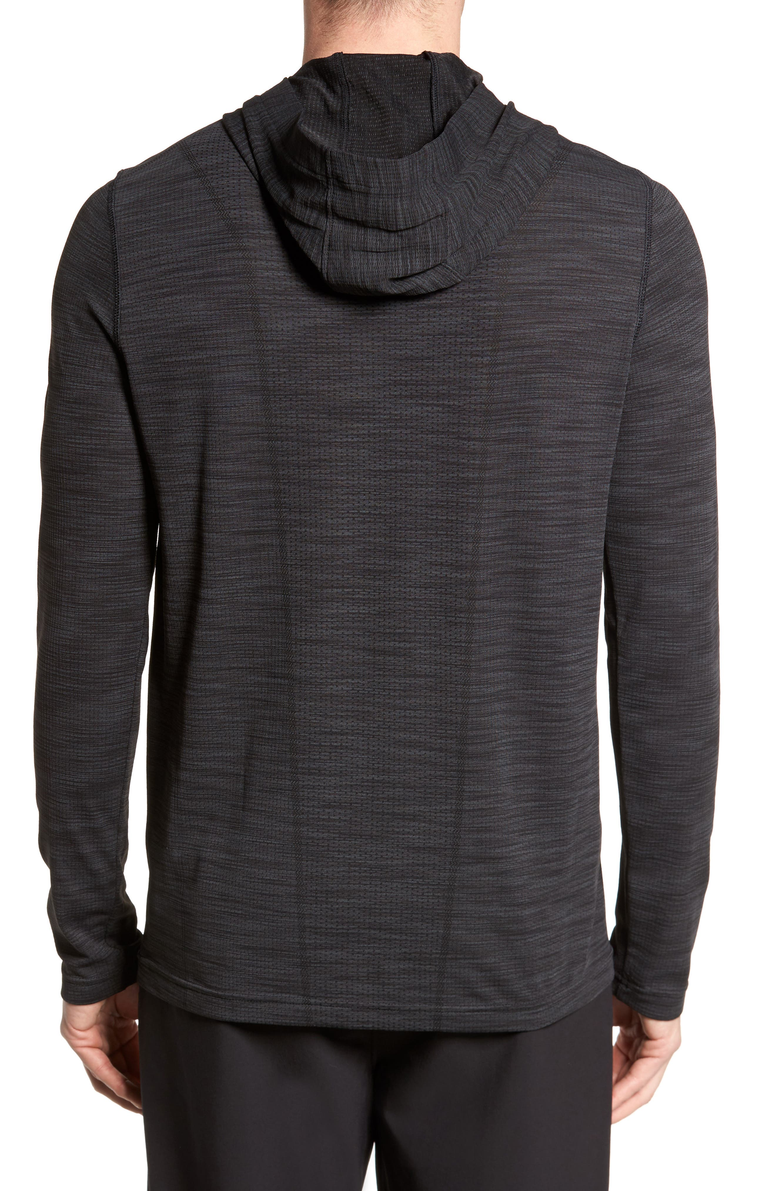 Threadbone Fitted Seamless Hoodie,                             Alternate thumbnail 2, color,                             001