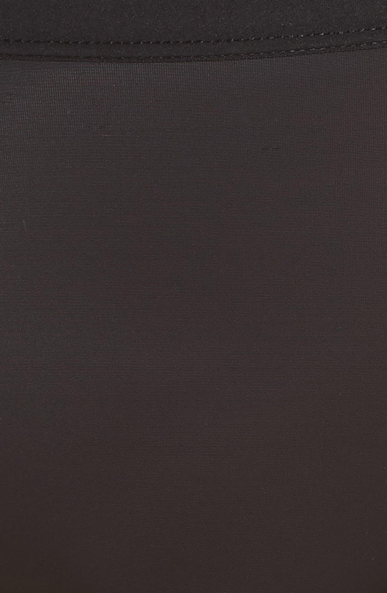 Flawless Comfort High Cut Briefs,                             Alternate thumbnail 5, color,                             BLACK