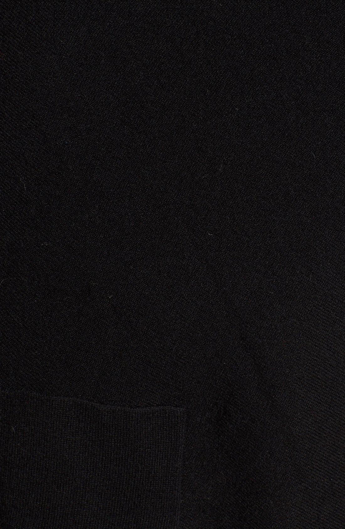 Cashmere Drape Vest with Genuine Rex Rabbit Fur Trim,                             Alternate thumbnail 9, color,