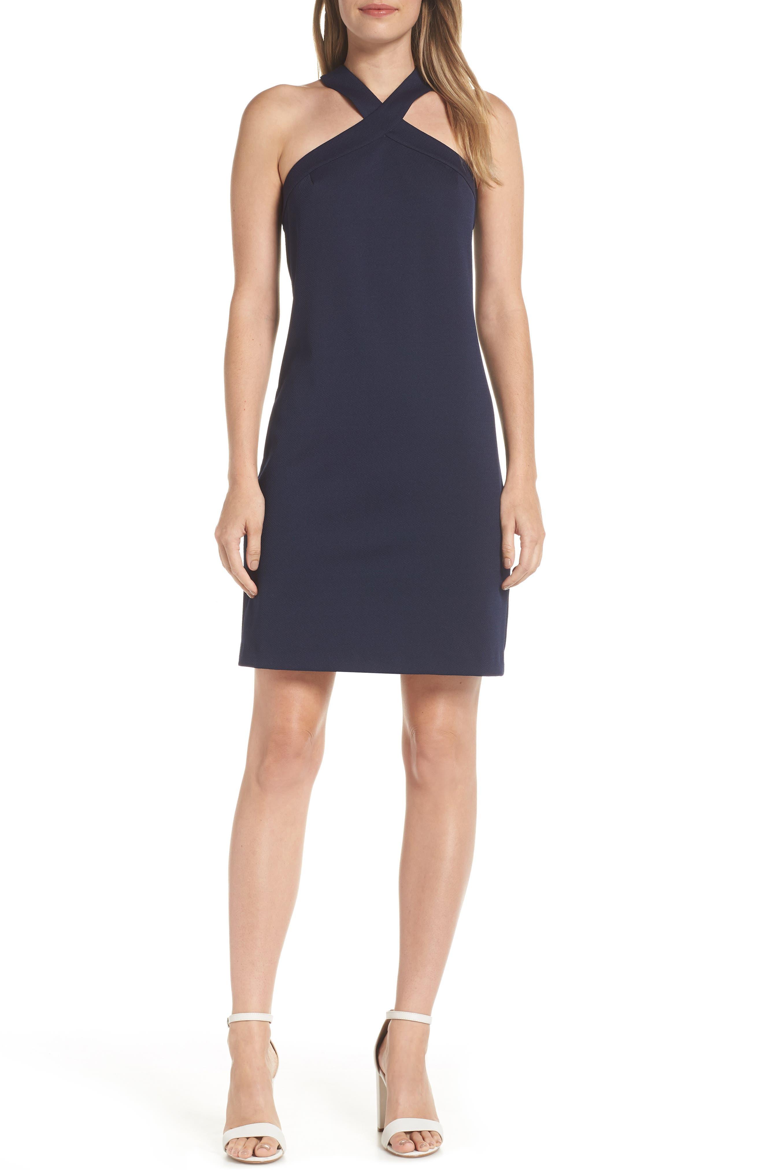 Fabiana Halter Dress,                         Main,                         color, INDIGO
