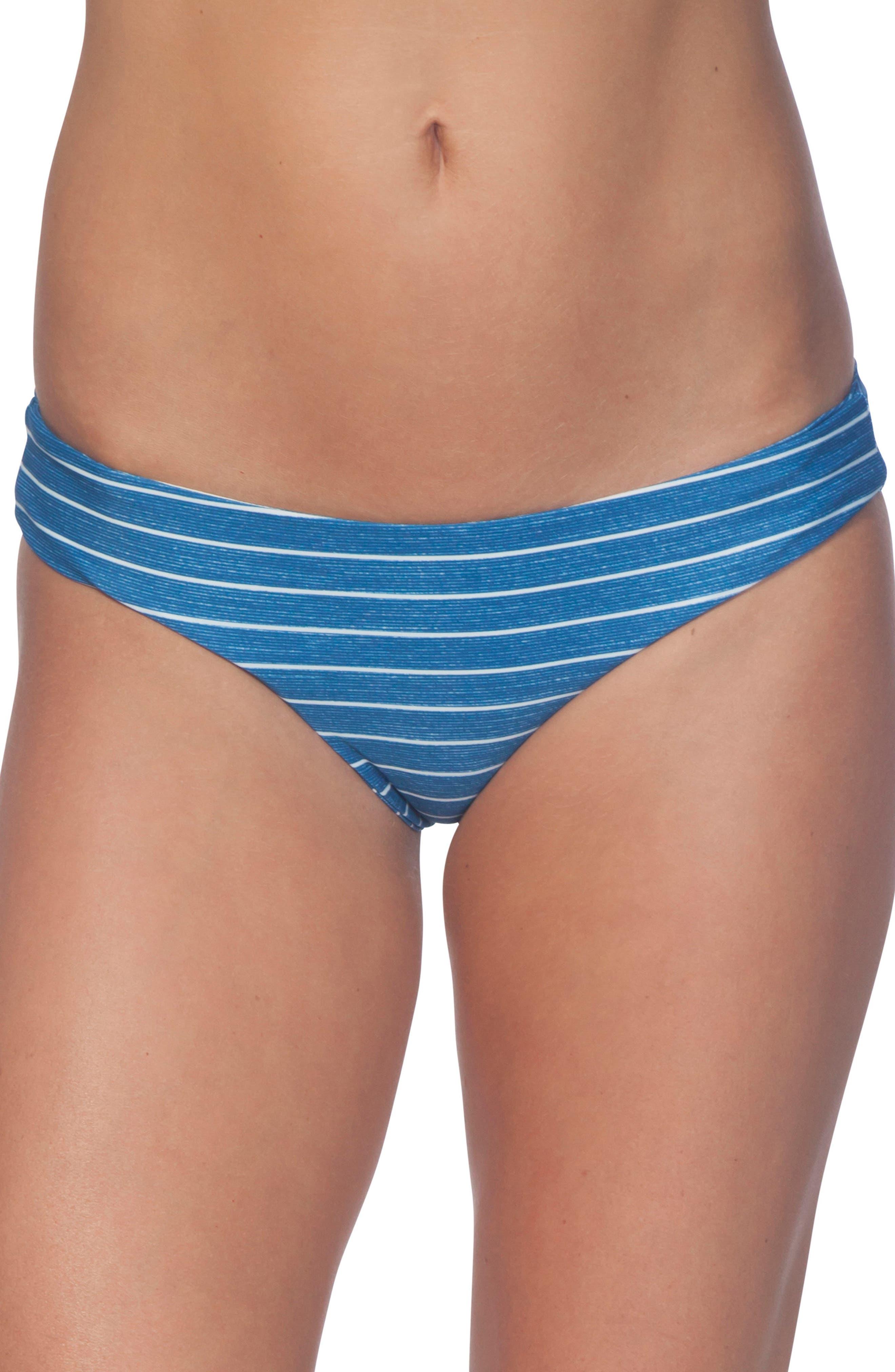 Premium Surf Hipster Bikini Bottoms,                         Main,                         color, NAVY