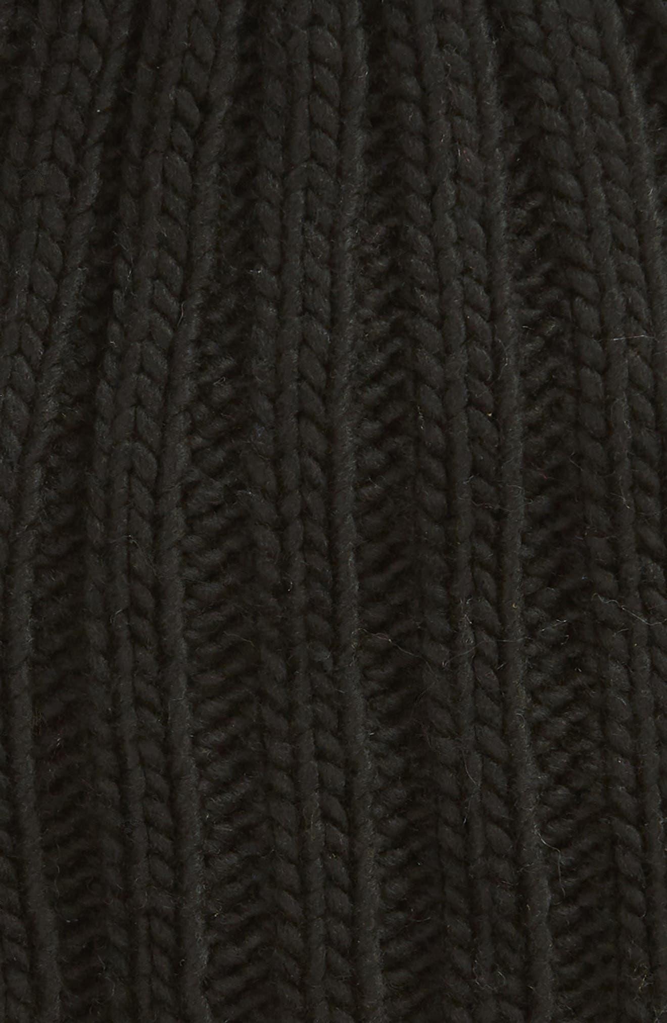 Rory Rib Beanie,                             Alternate thumbnail 2, color,                             BLACK