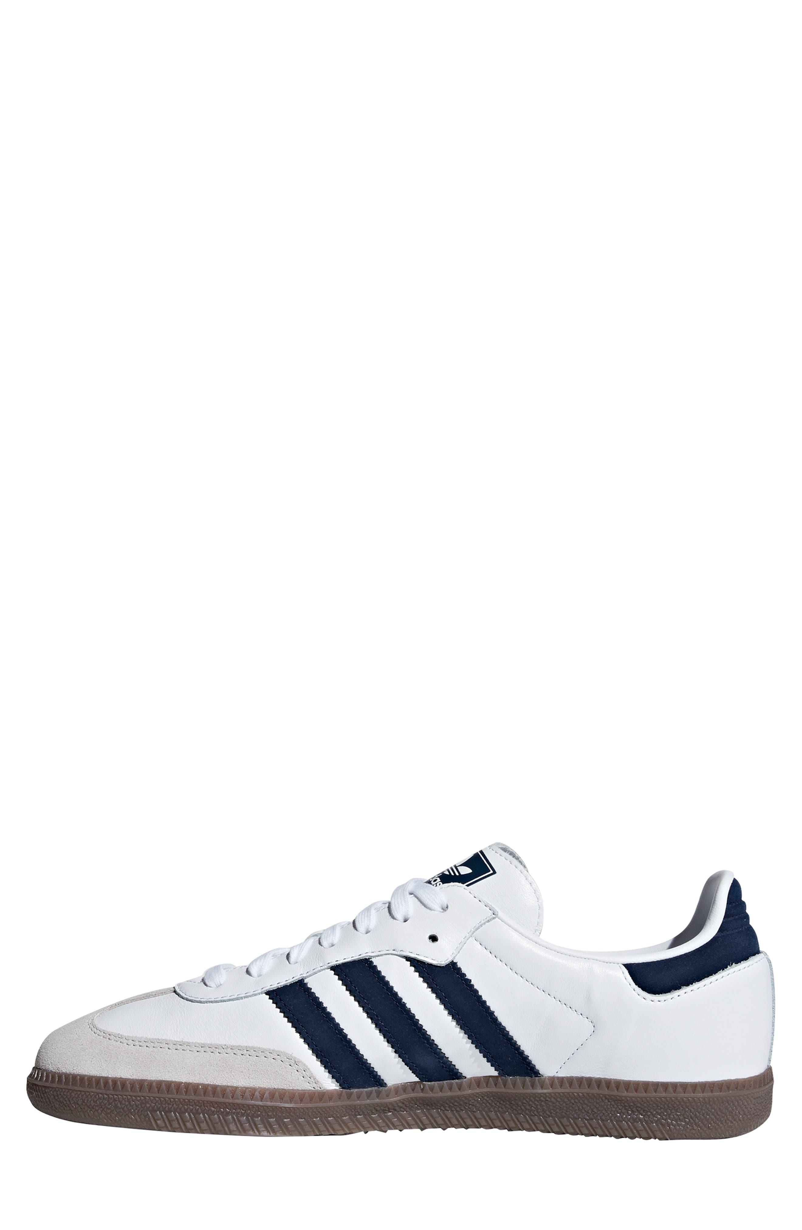 Samba OG Sneaker,                             Alternate thumbnail 8, color,                             WHITE/ NAVY / CRYSTAL WHITE