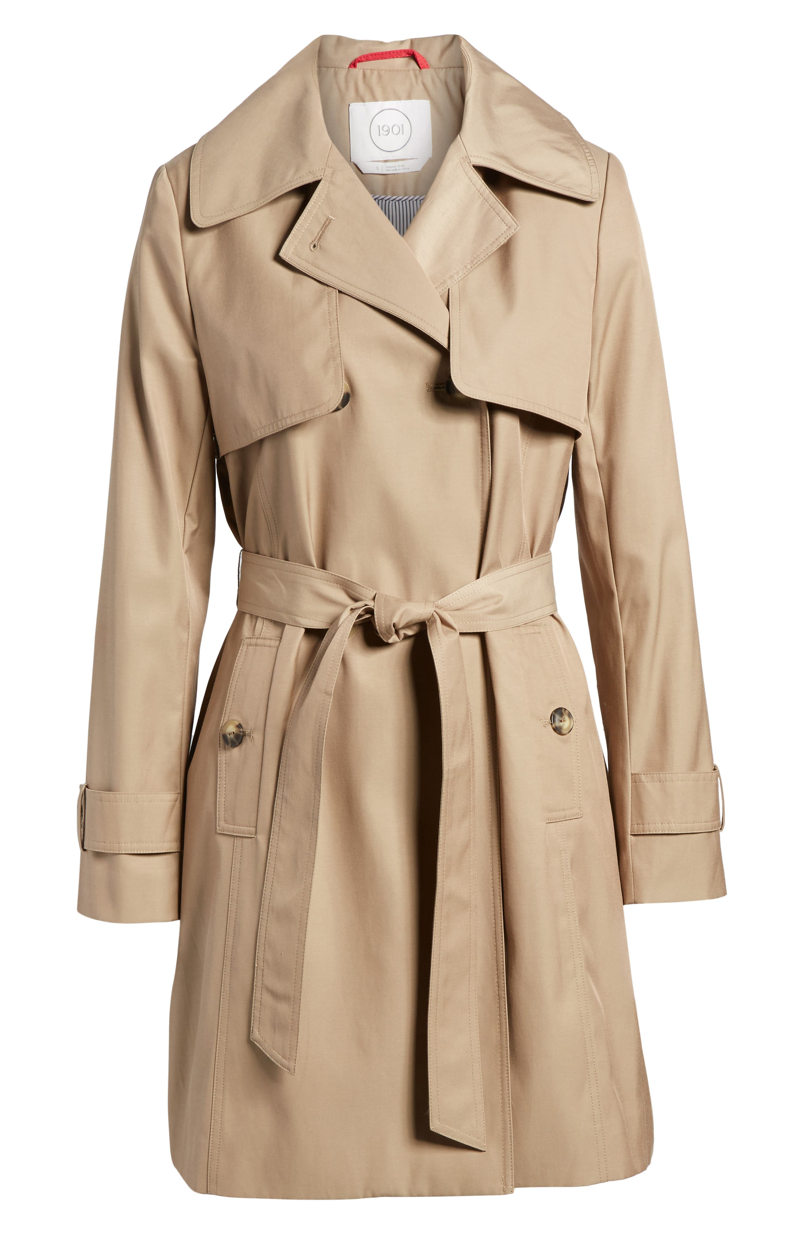 Midi Trench Coat,                             Alternate thumbnail 5, color,                             299