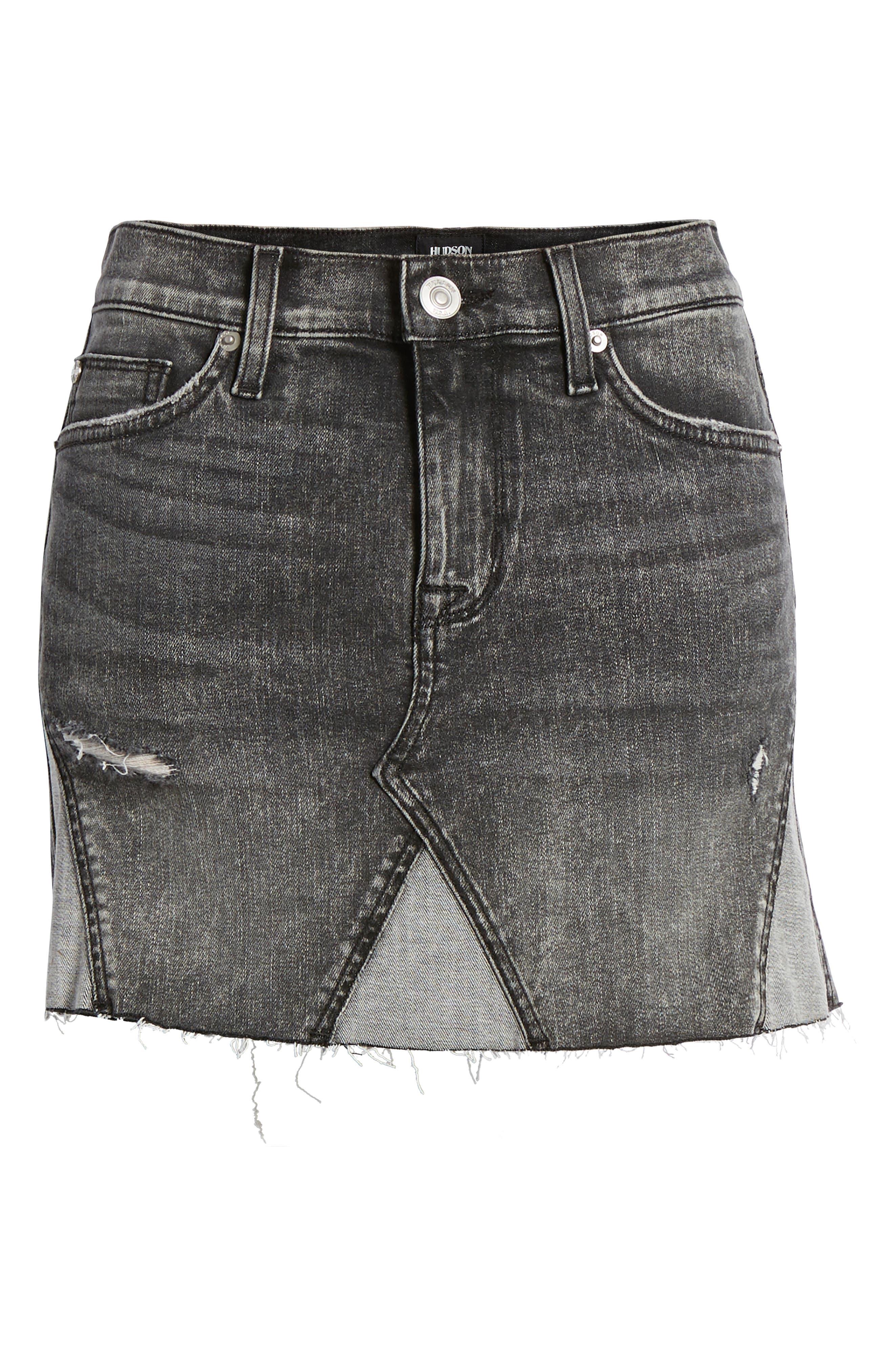 The Viper Cutoff Denim Miniskirt,                             Alternate thumbnail 7, color,                             OLD SCHOOL