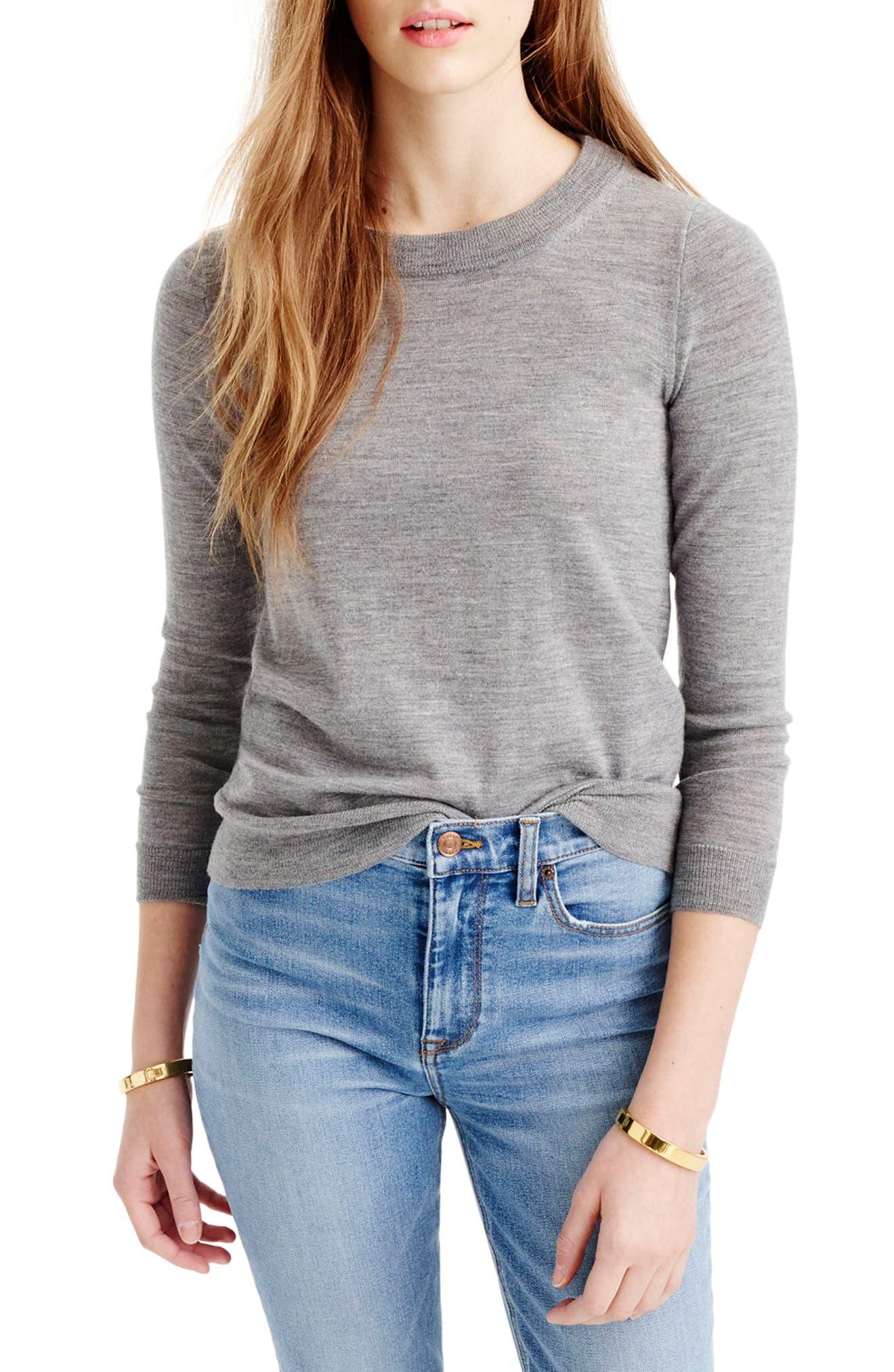 J.crew Tippi Merino Wool Sweater, Grey