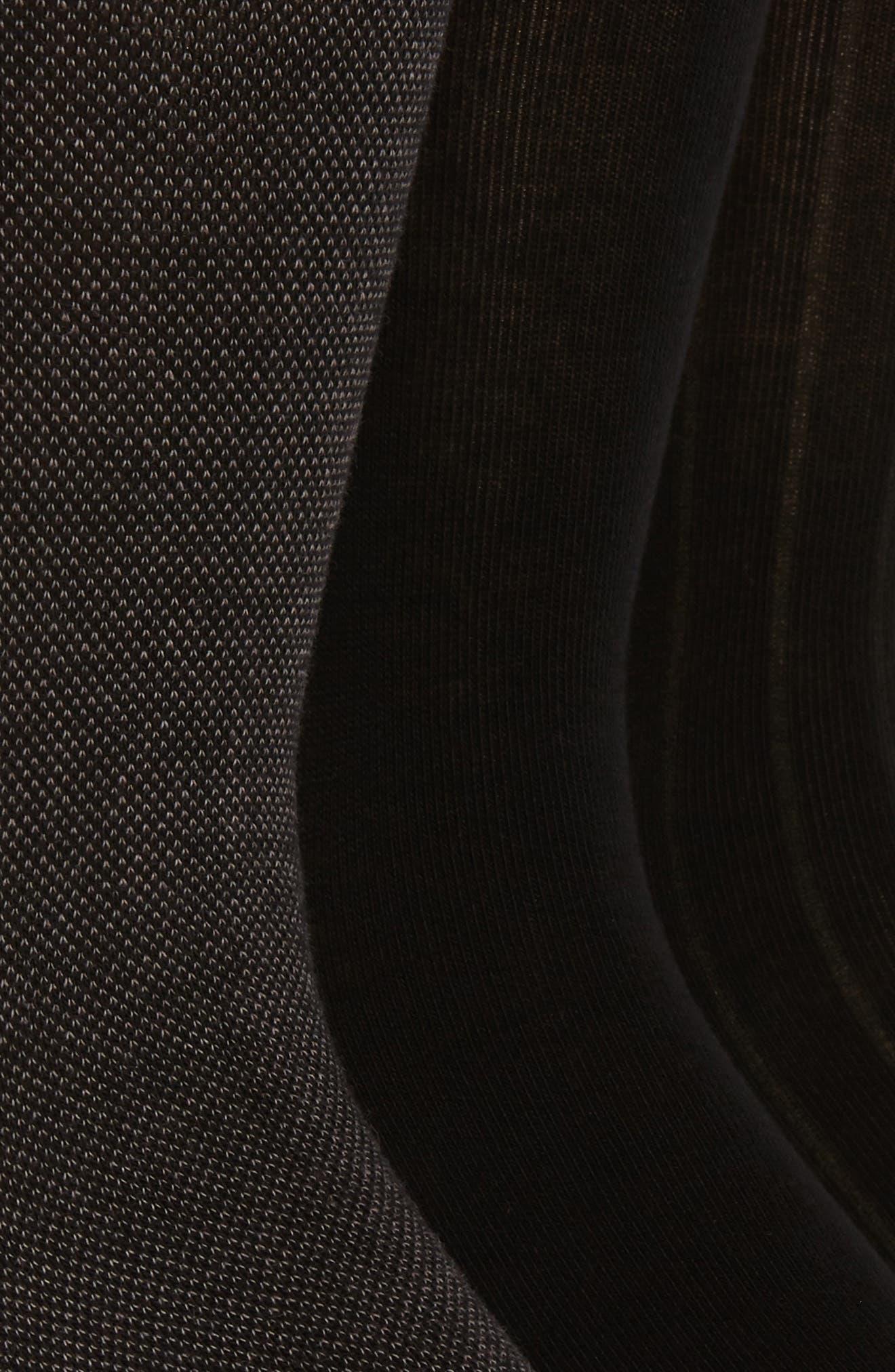 3-Pack Crew Socks,                             Alternate thumbnail 2, color,                             BLACK