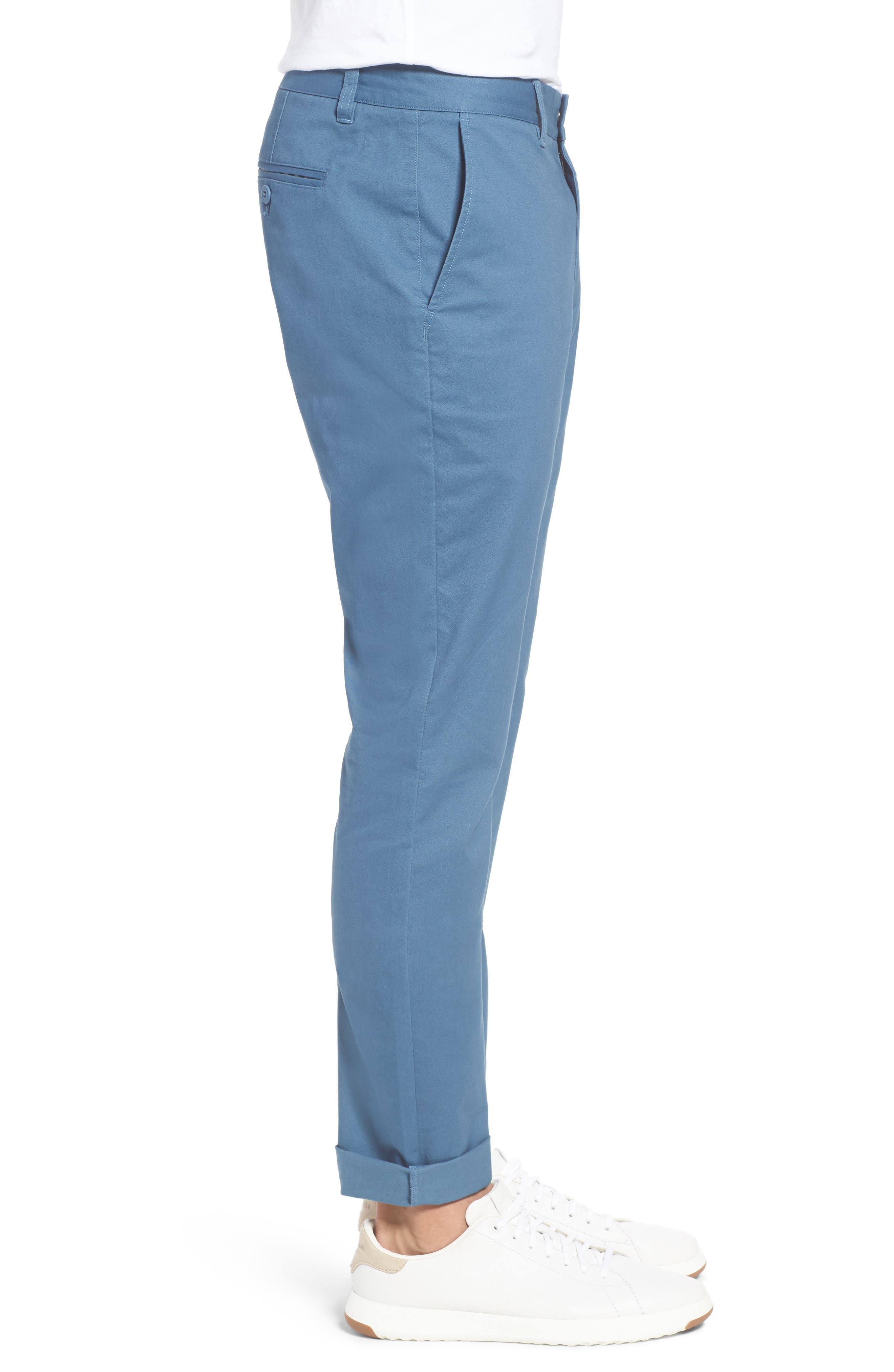 Tailored Fit Washed Stretch Cotton Chinos,                             Alternate thumbnail 103, color,