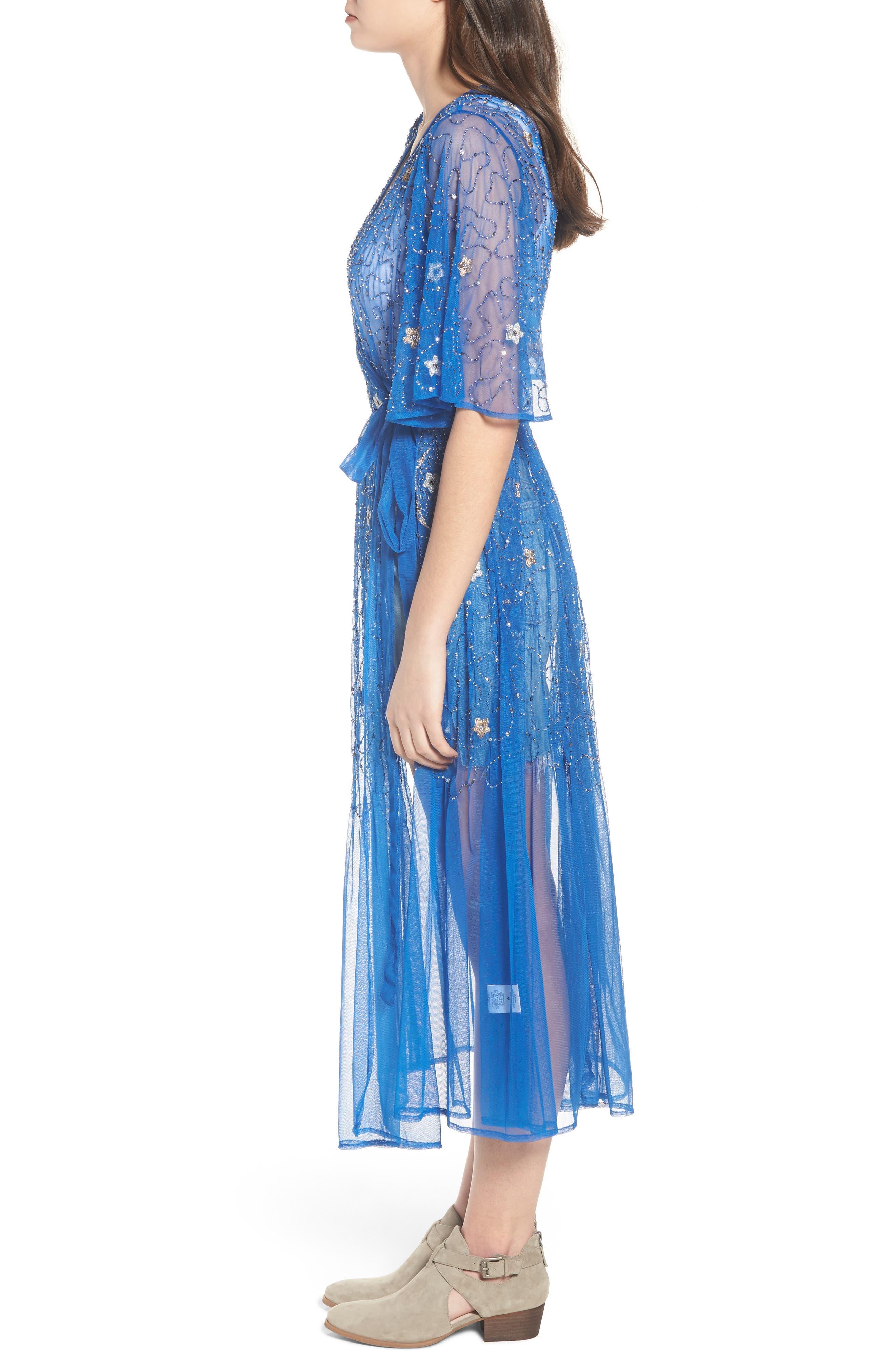 Stargazer Kimono,                             Alternate thumbnail 3, color,                             LAPIZ BLUE