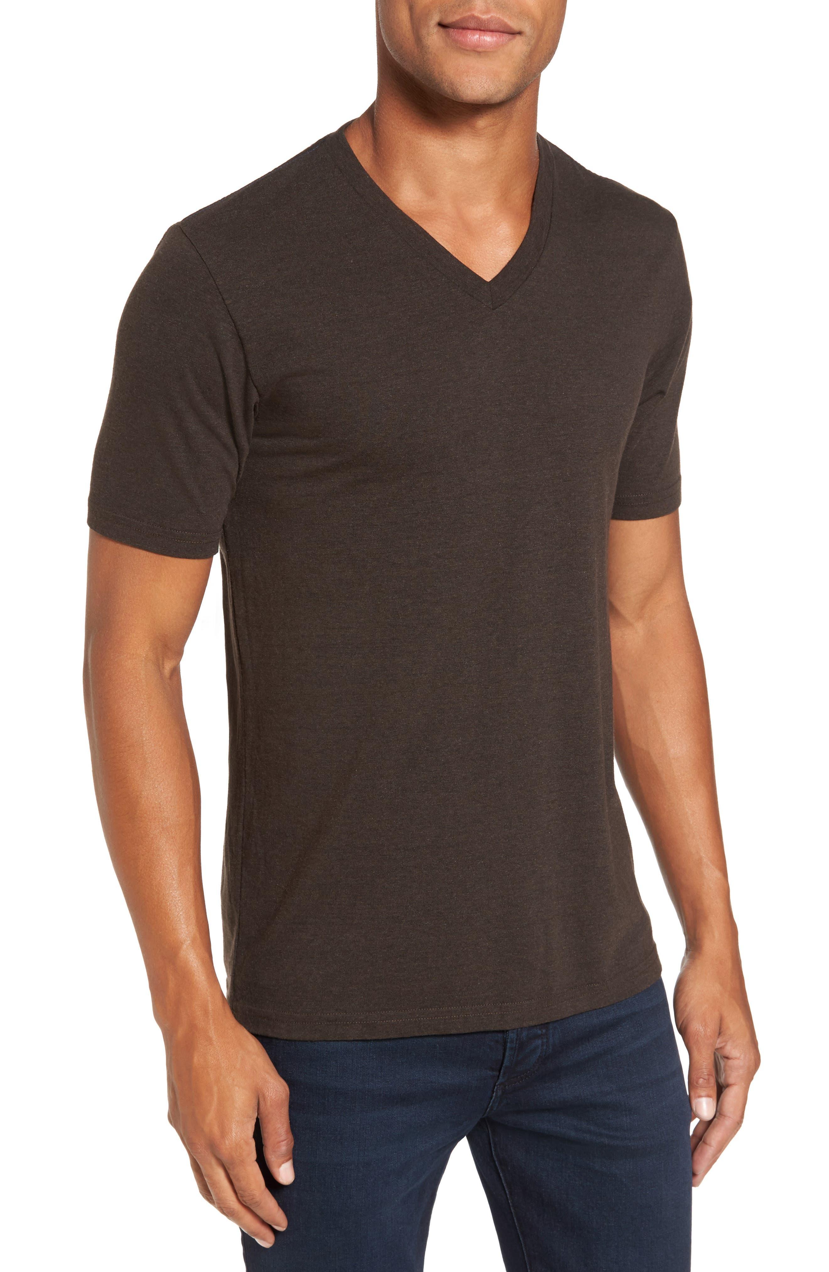 V-Neck Heathered T-Shirt,                         Main,                         color, 206