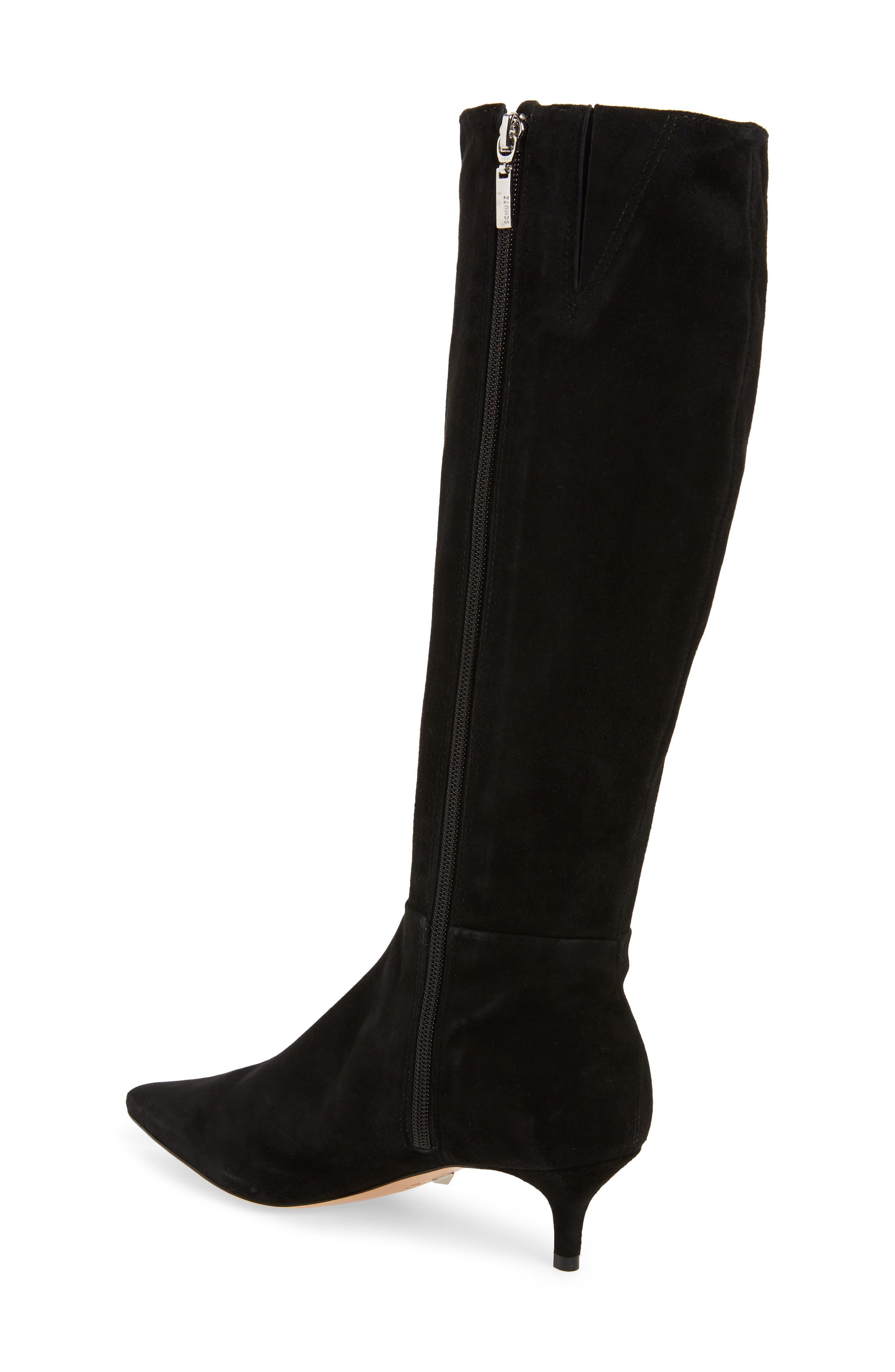 Knee High Boot,                             Alternate thumbnail 2, color,                             BLACK FABRIC