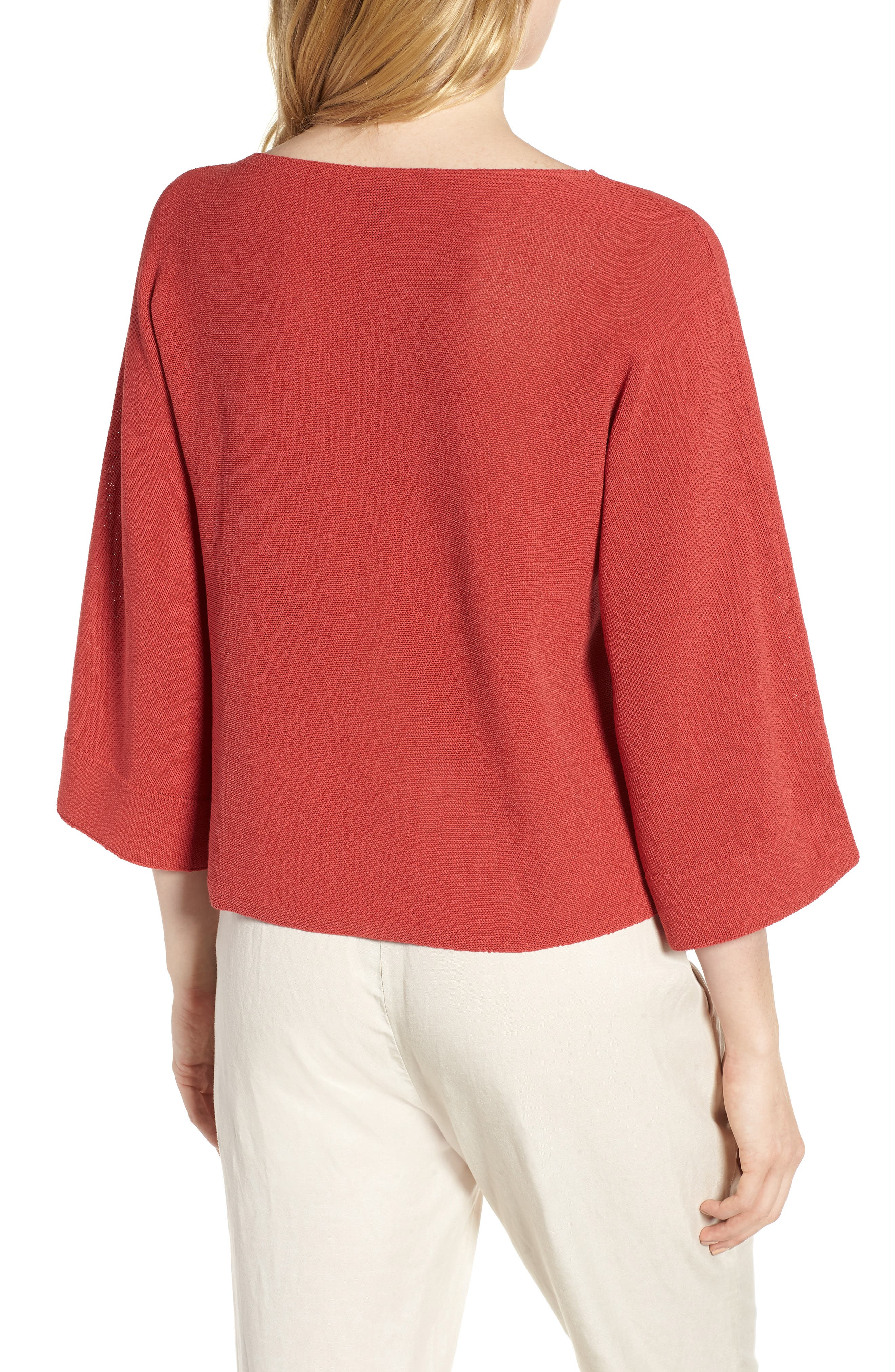 Organic Cotton Blend Sweater,                             Alternate thumbnail 9, color,